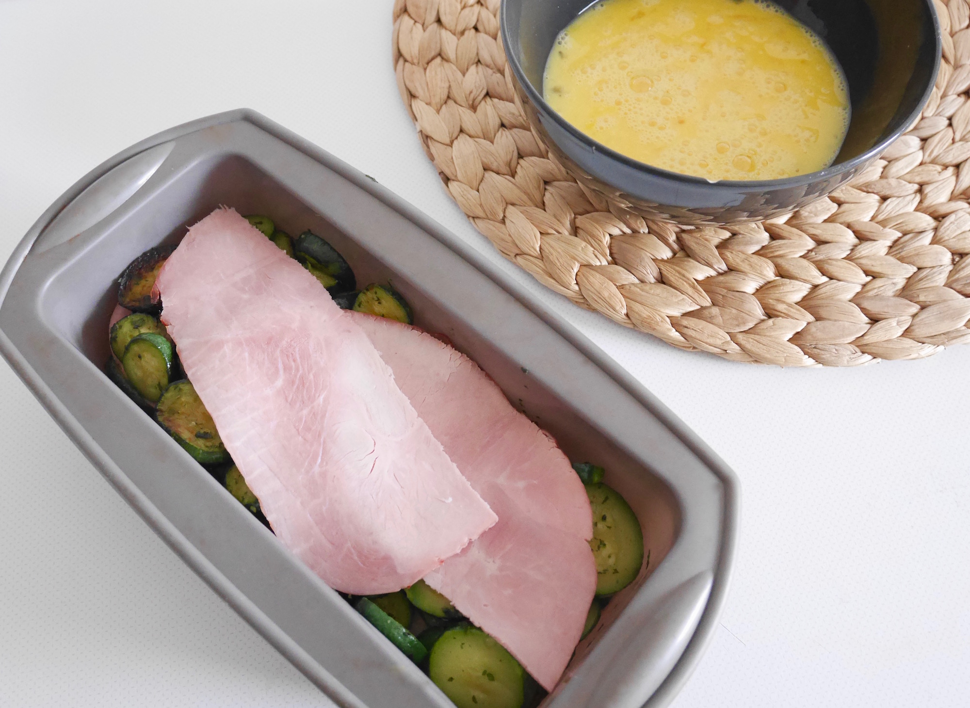 recette flan courgette oeuf jambon