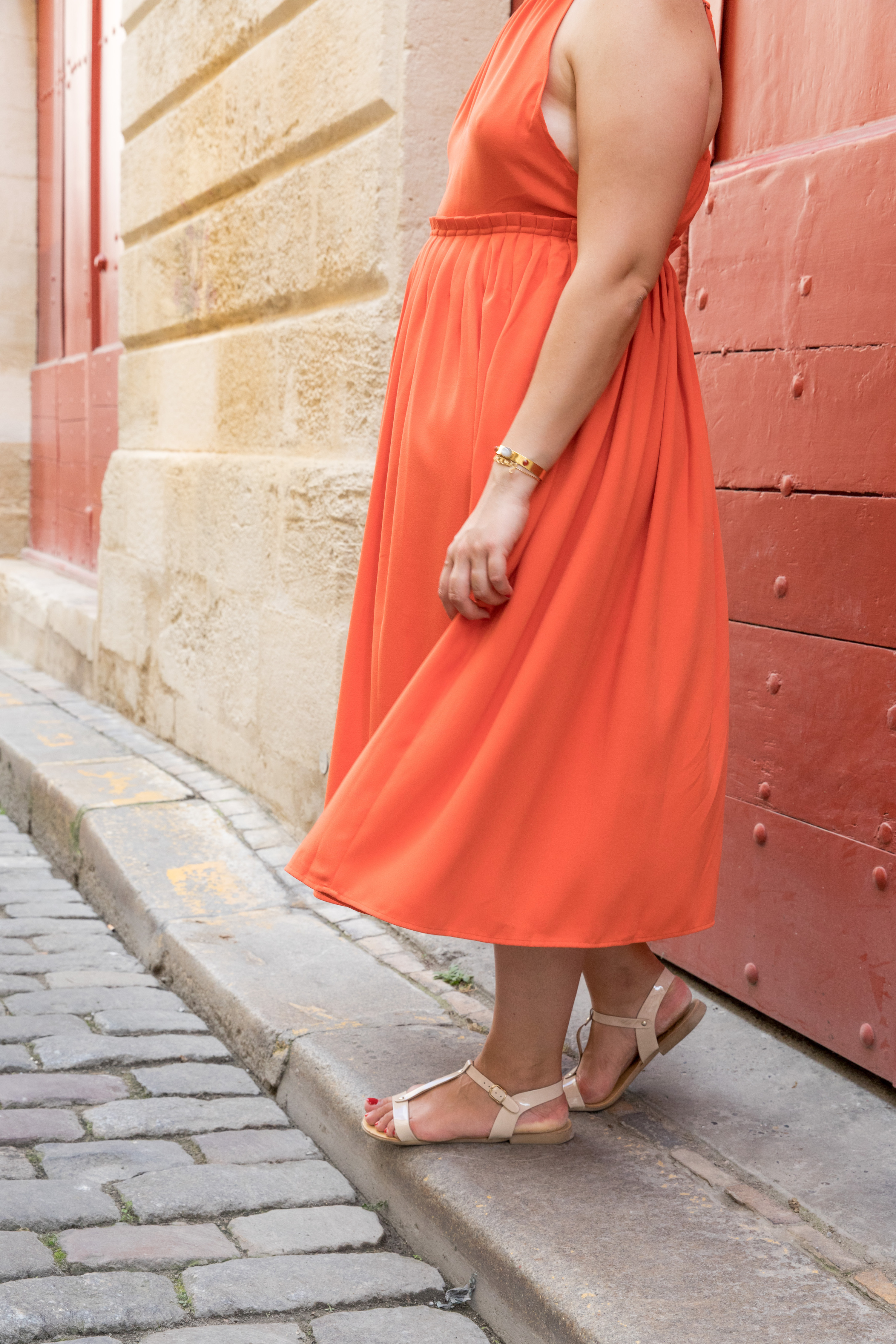 robe orange la redoute