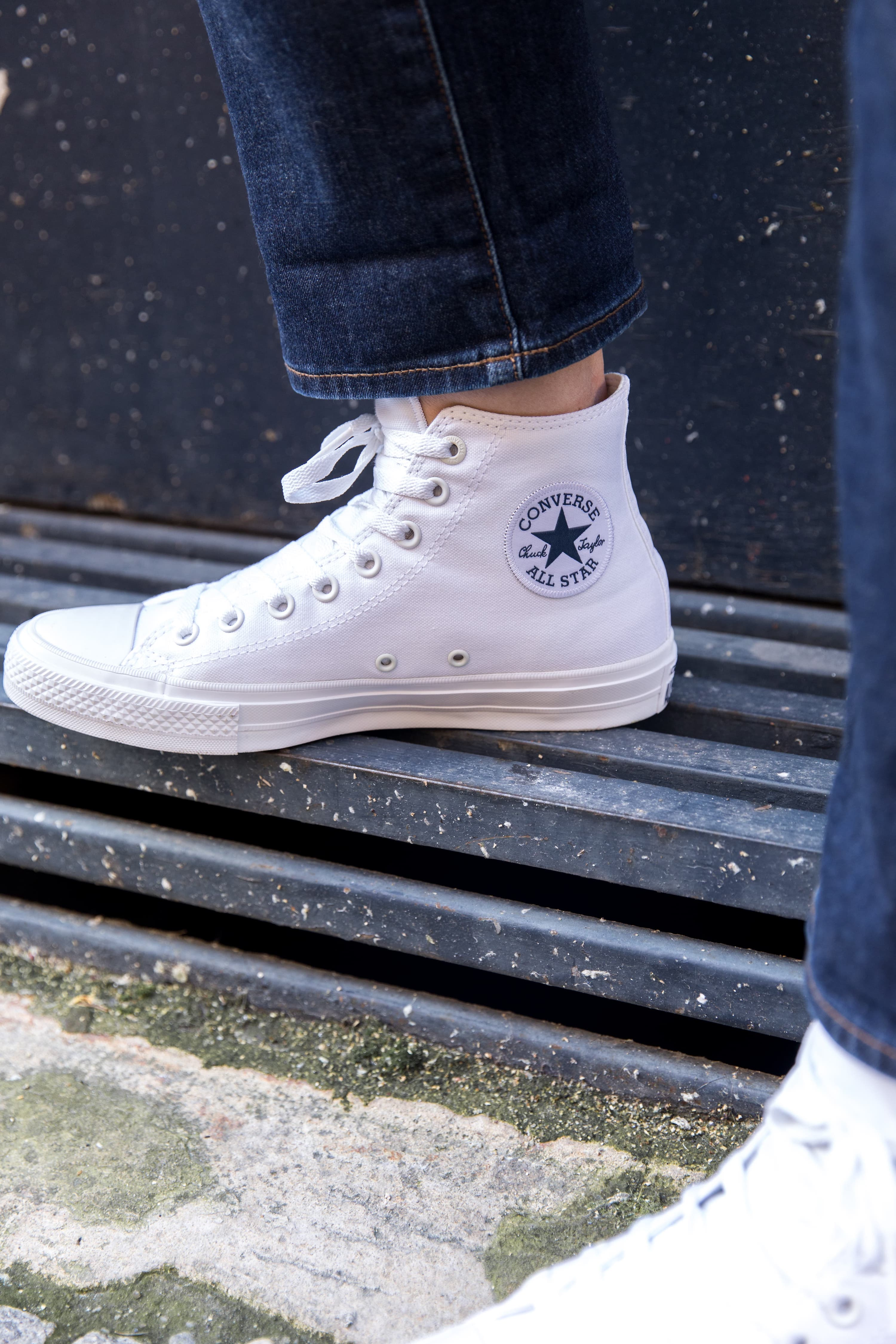 converse blanches soldes