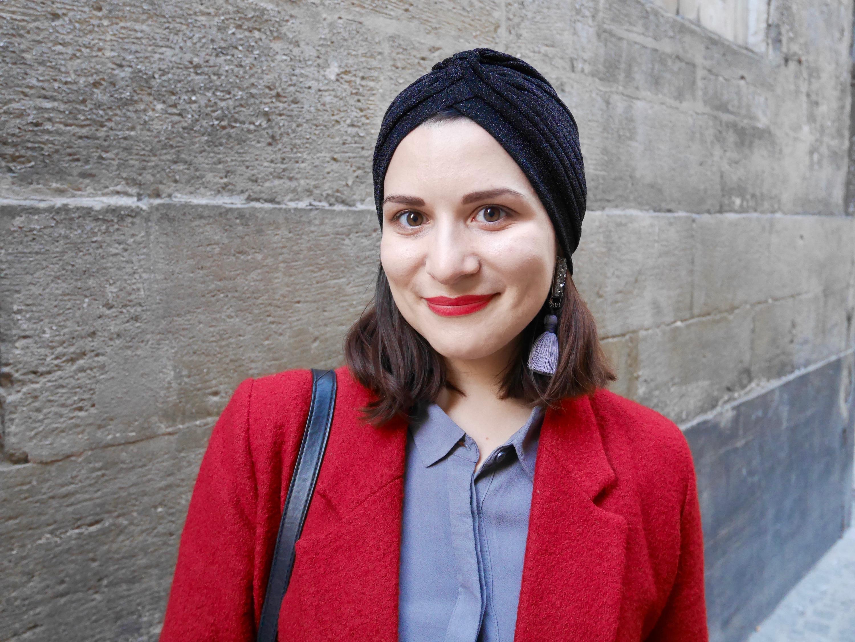 turban femme noir stradivarius