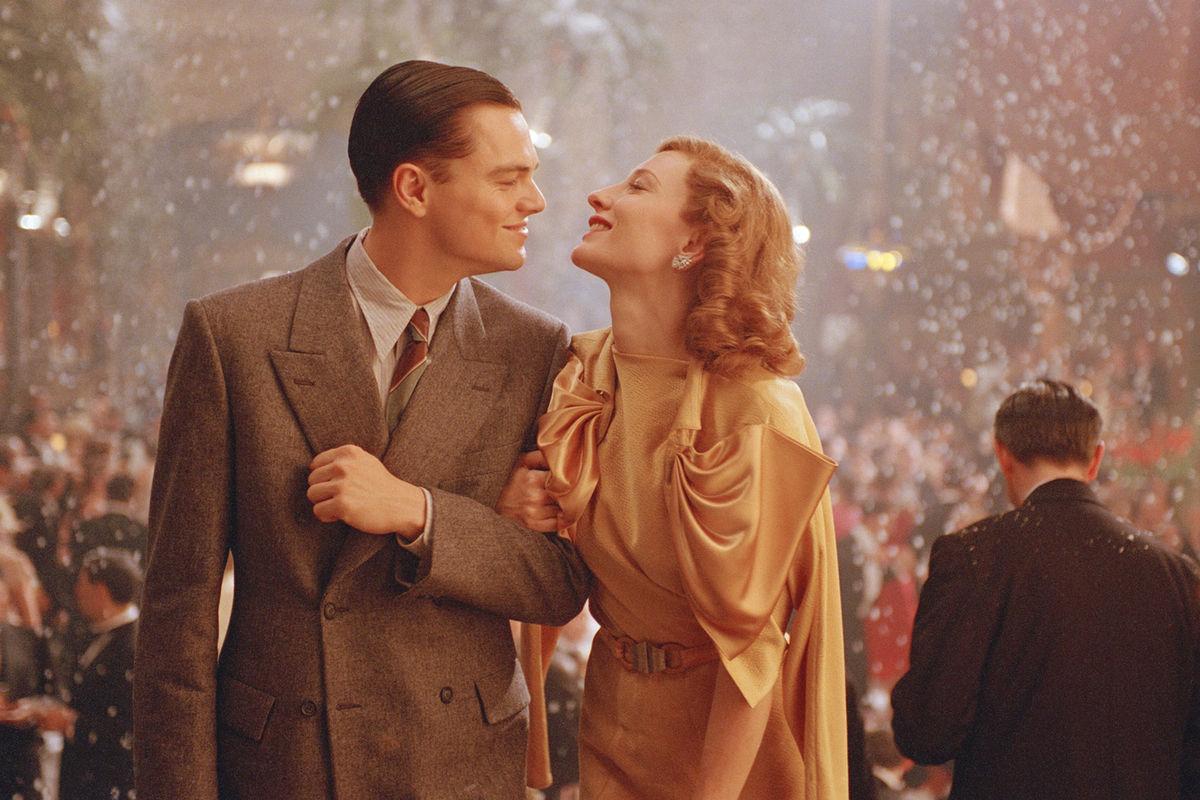 Cate Blanchett et Leonardo DiCaprio dans Aviator (2004)