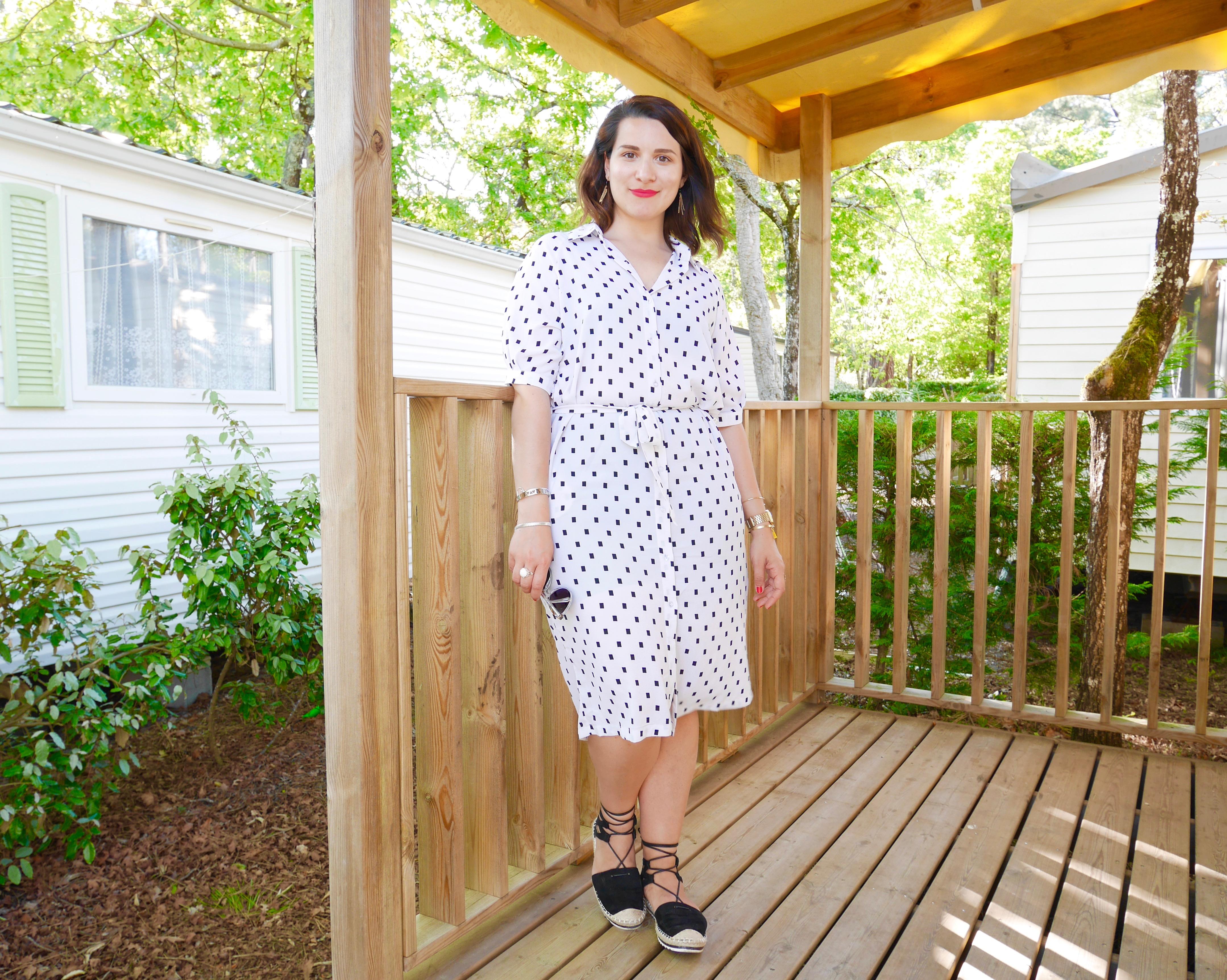 robe avec espadrilles