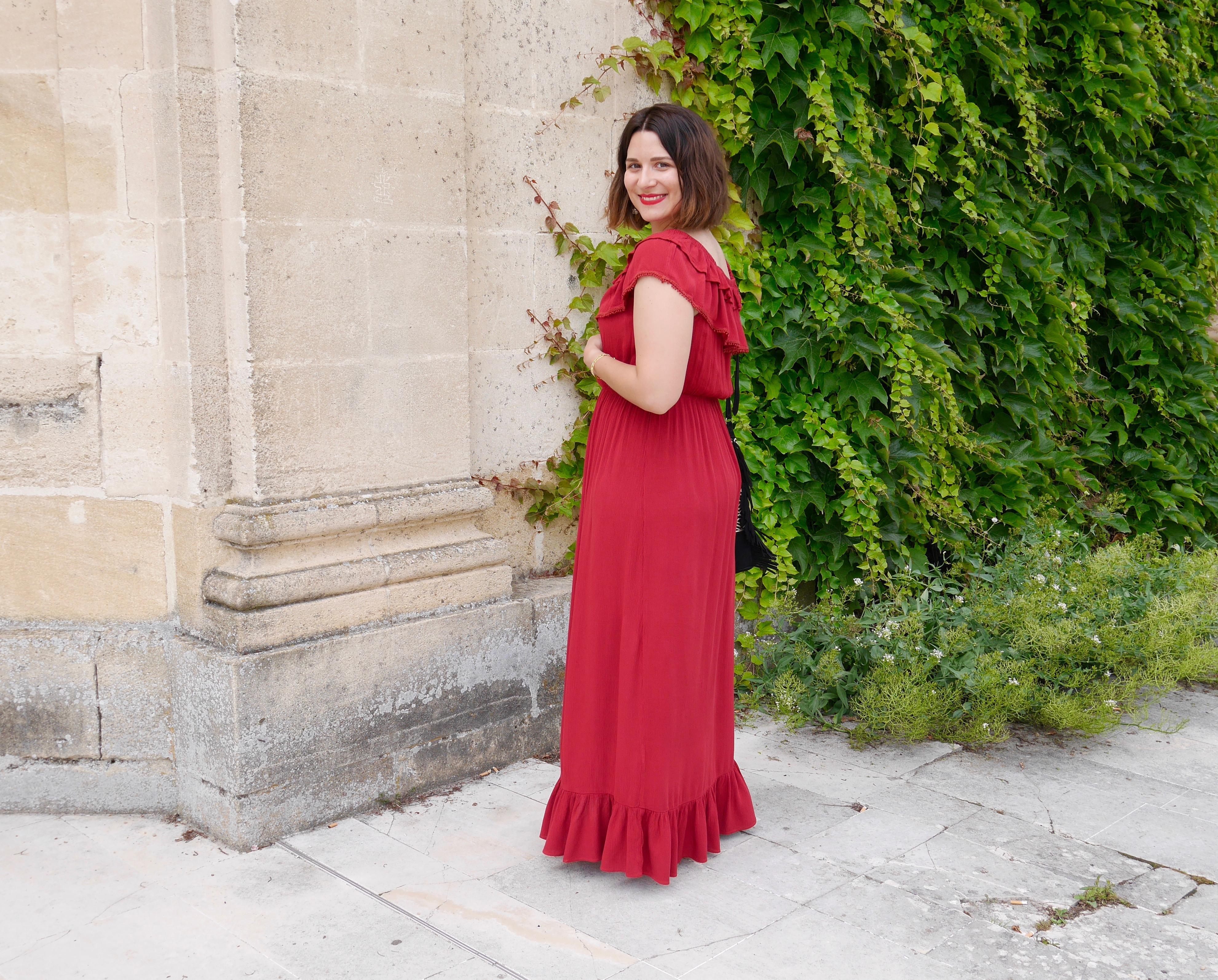 robe maxi rouge