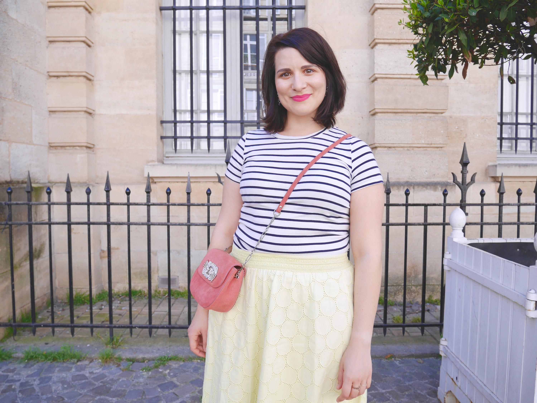 look jupe jaune
