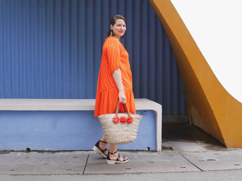 robe orange soldes