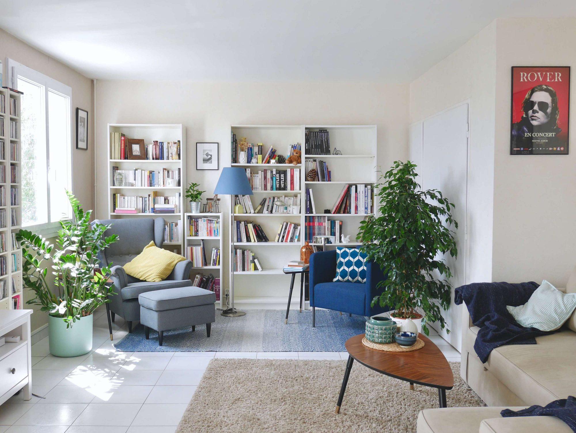 Avant / après : la décoration de mon salon contemporain   https://mademoisellemodeuse.com/
