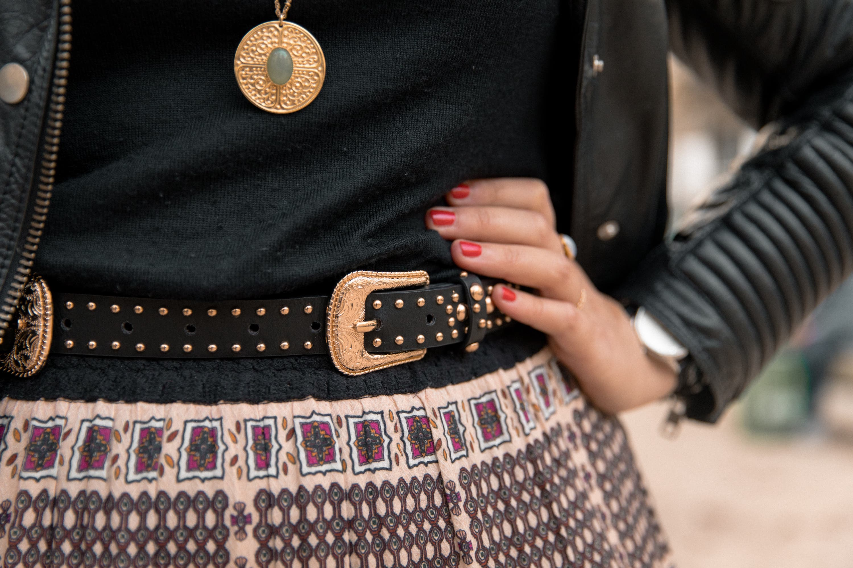 ceinture style western femme