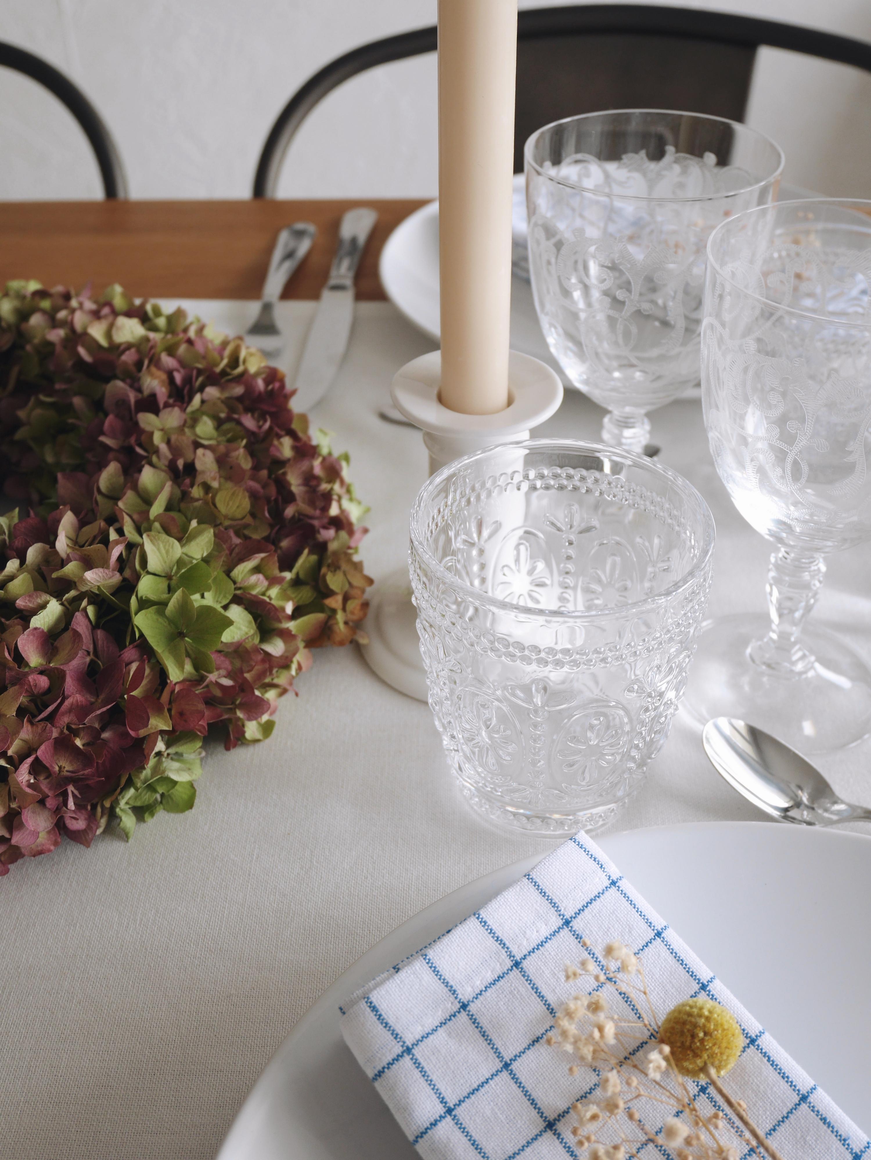 décoration de table blanc