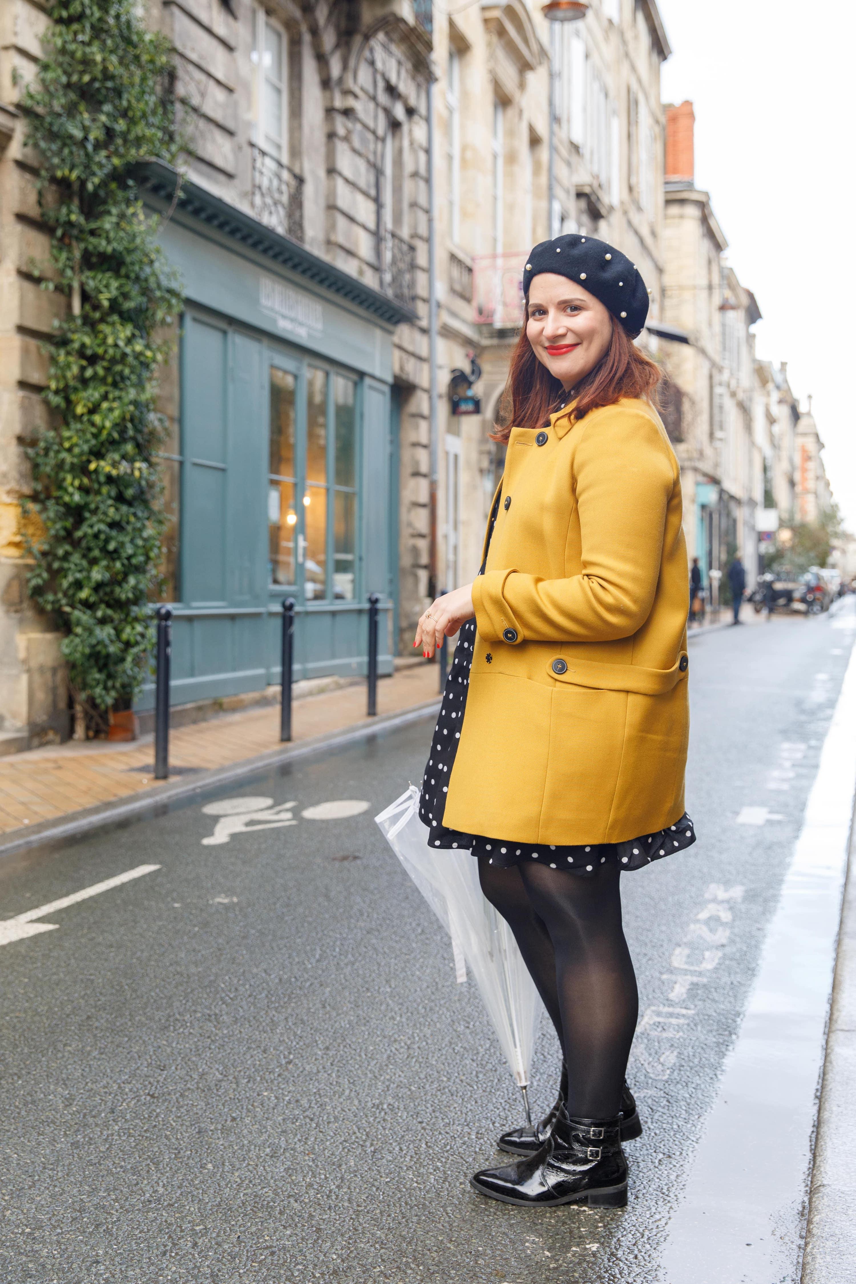 manteau jaune soldes