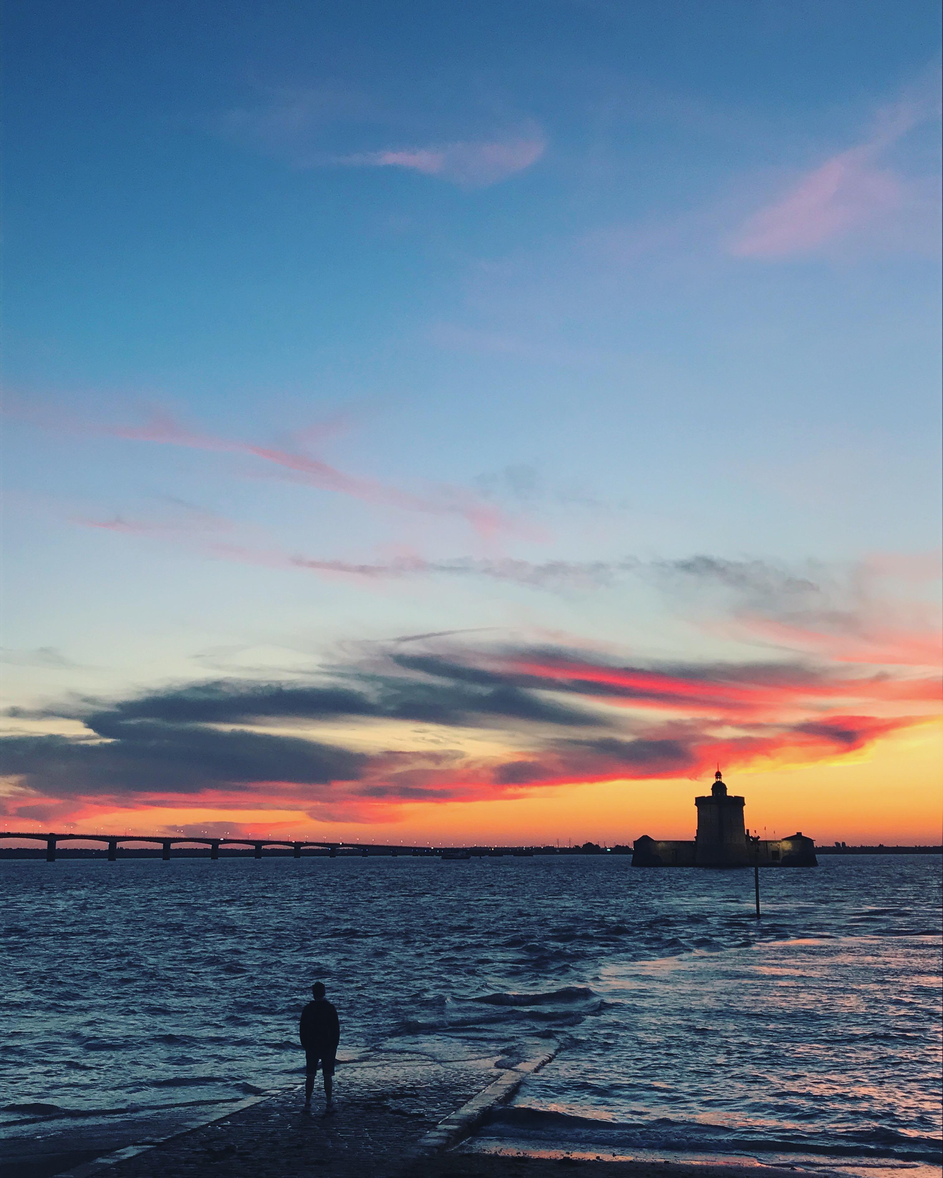 sunset france