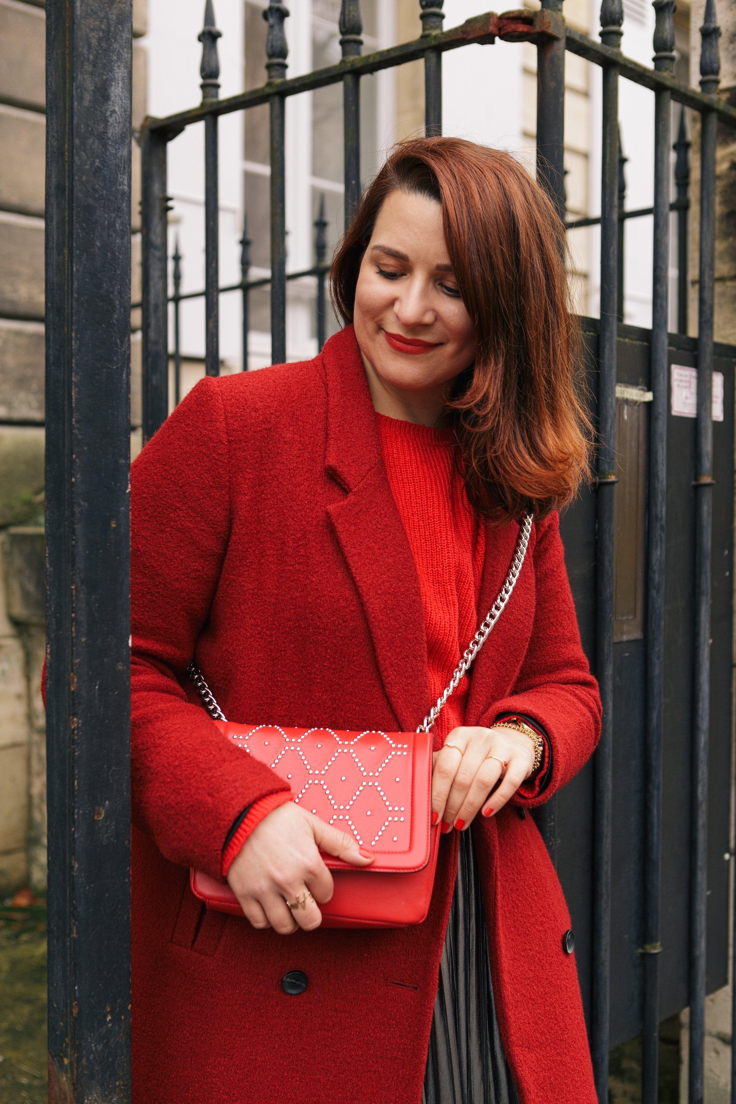 sac rouge à clous