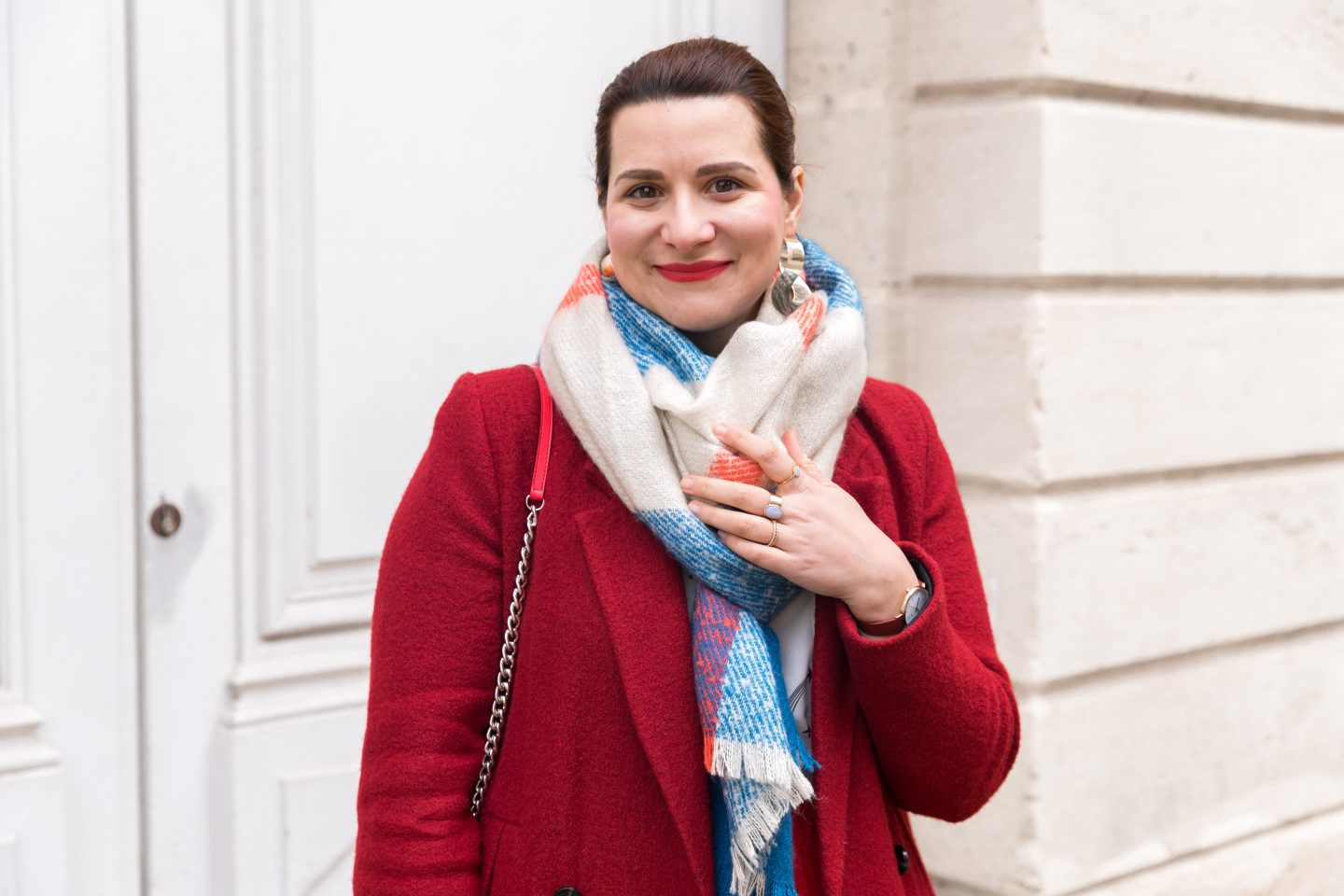 manteau rouge blog mode