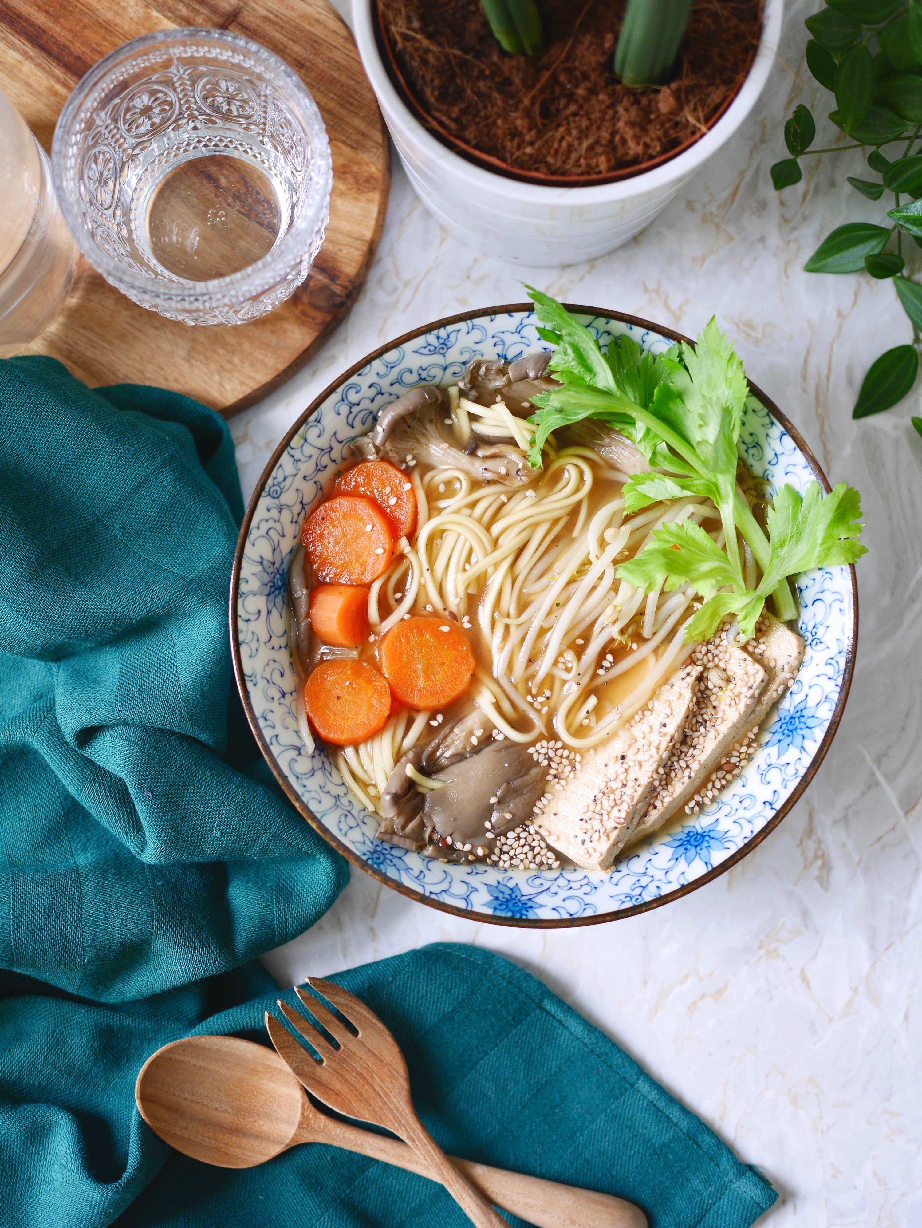 ramen végétarien tofu recette
