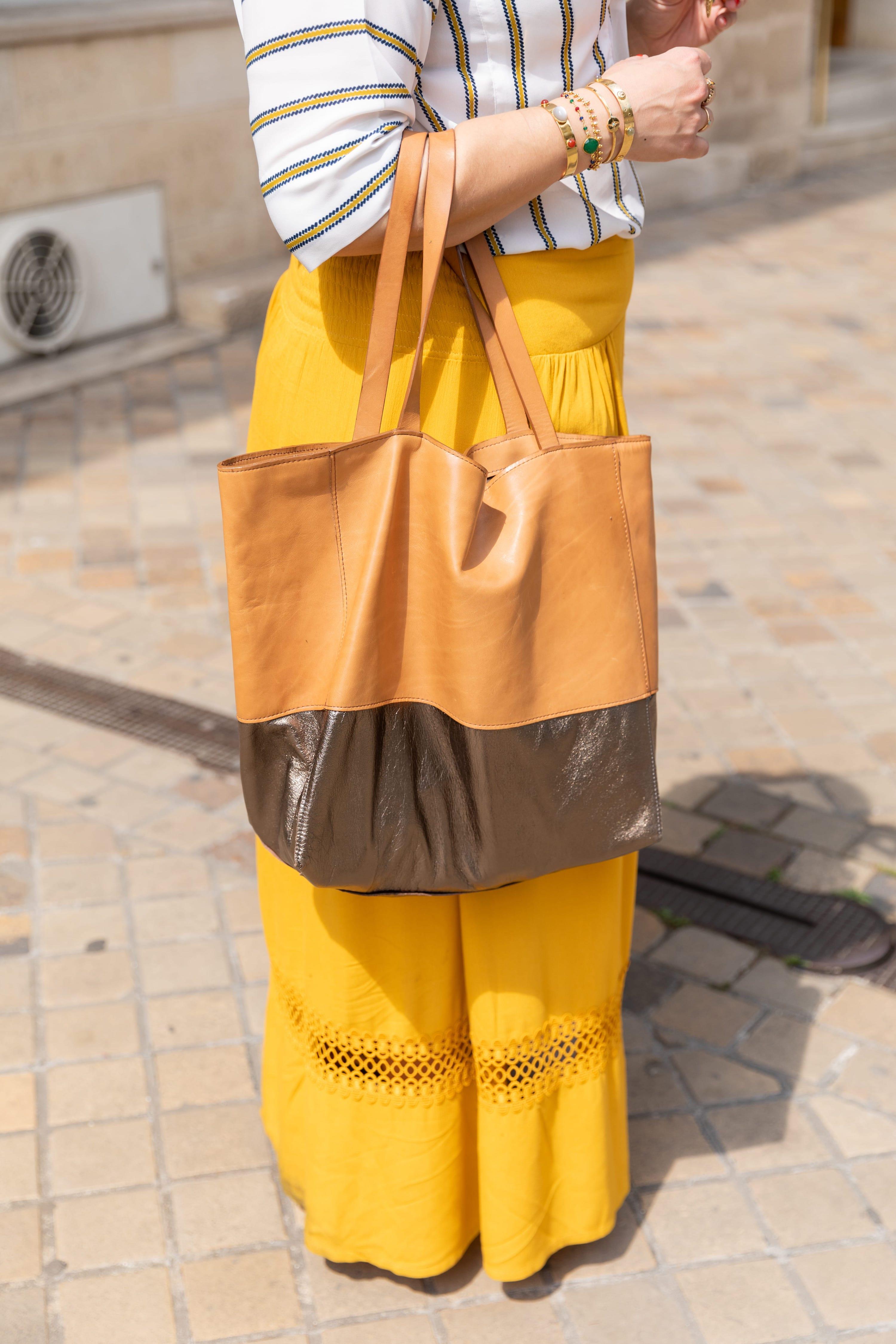 jupe jaune longue été