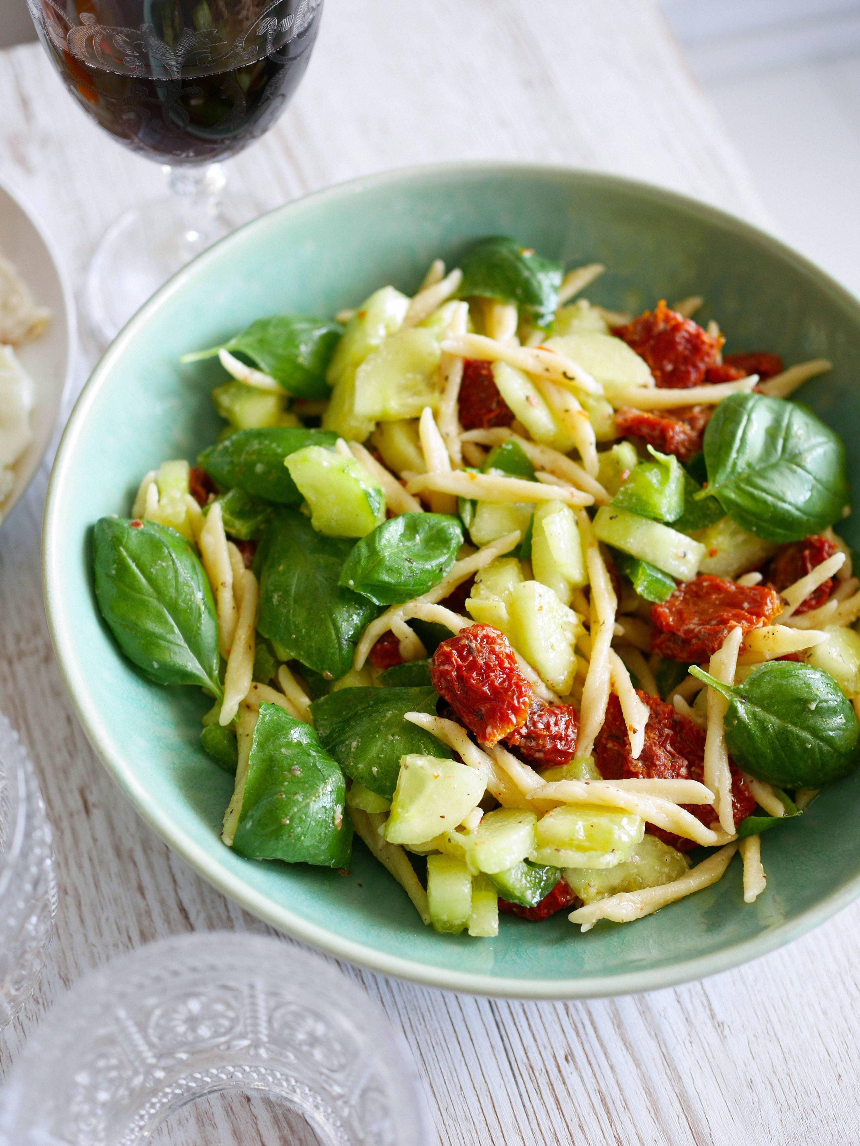 salade de pates basilic parmesan