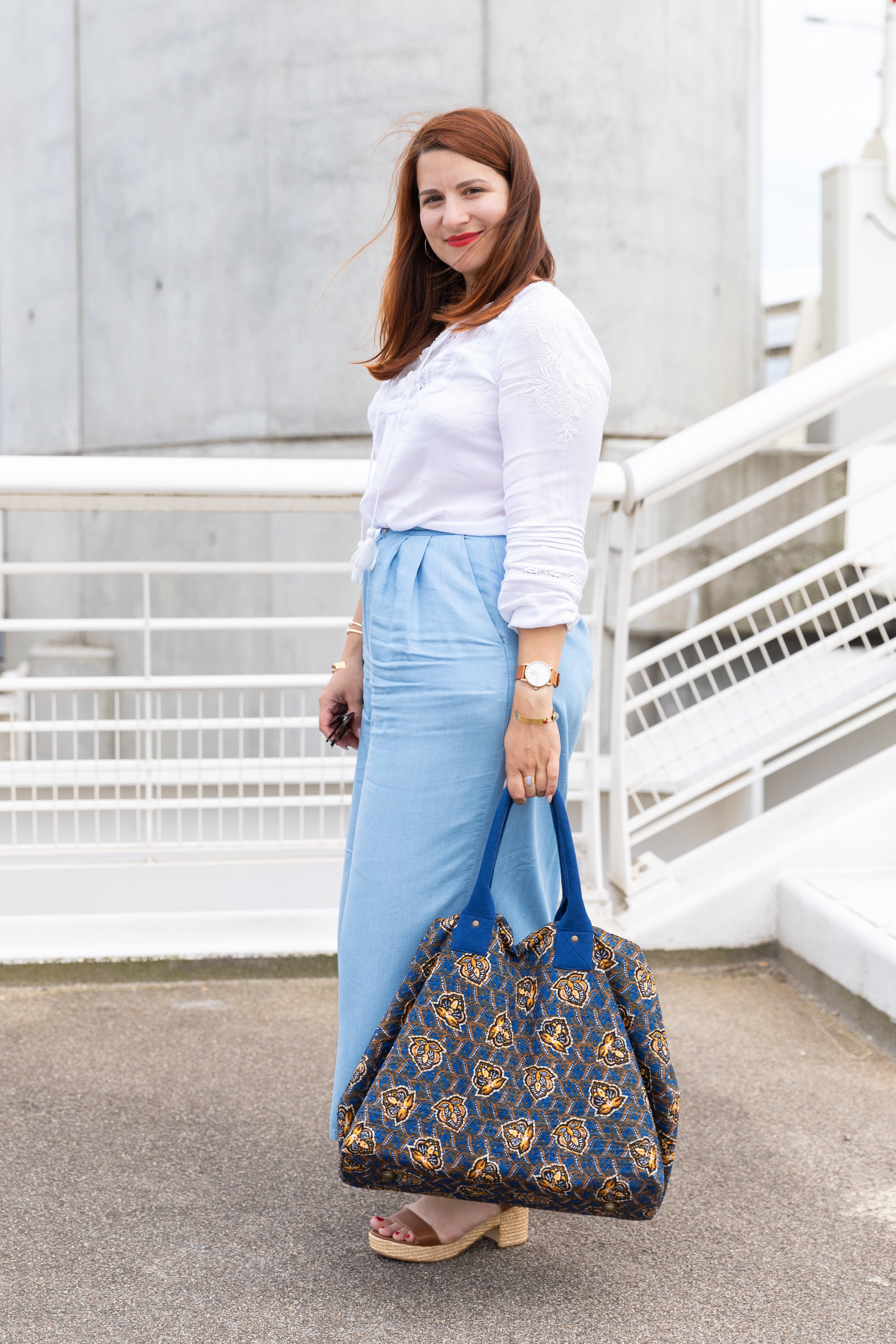 pantalon bleu zara