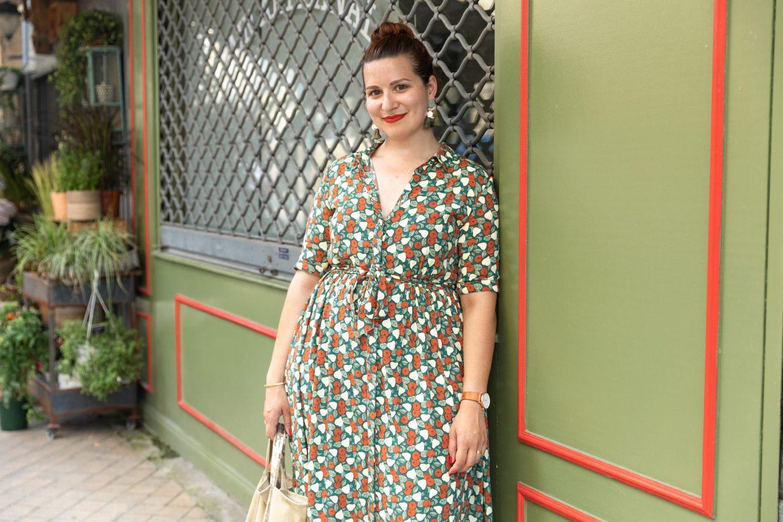 robe imprimée monoprix