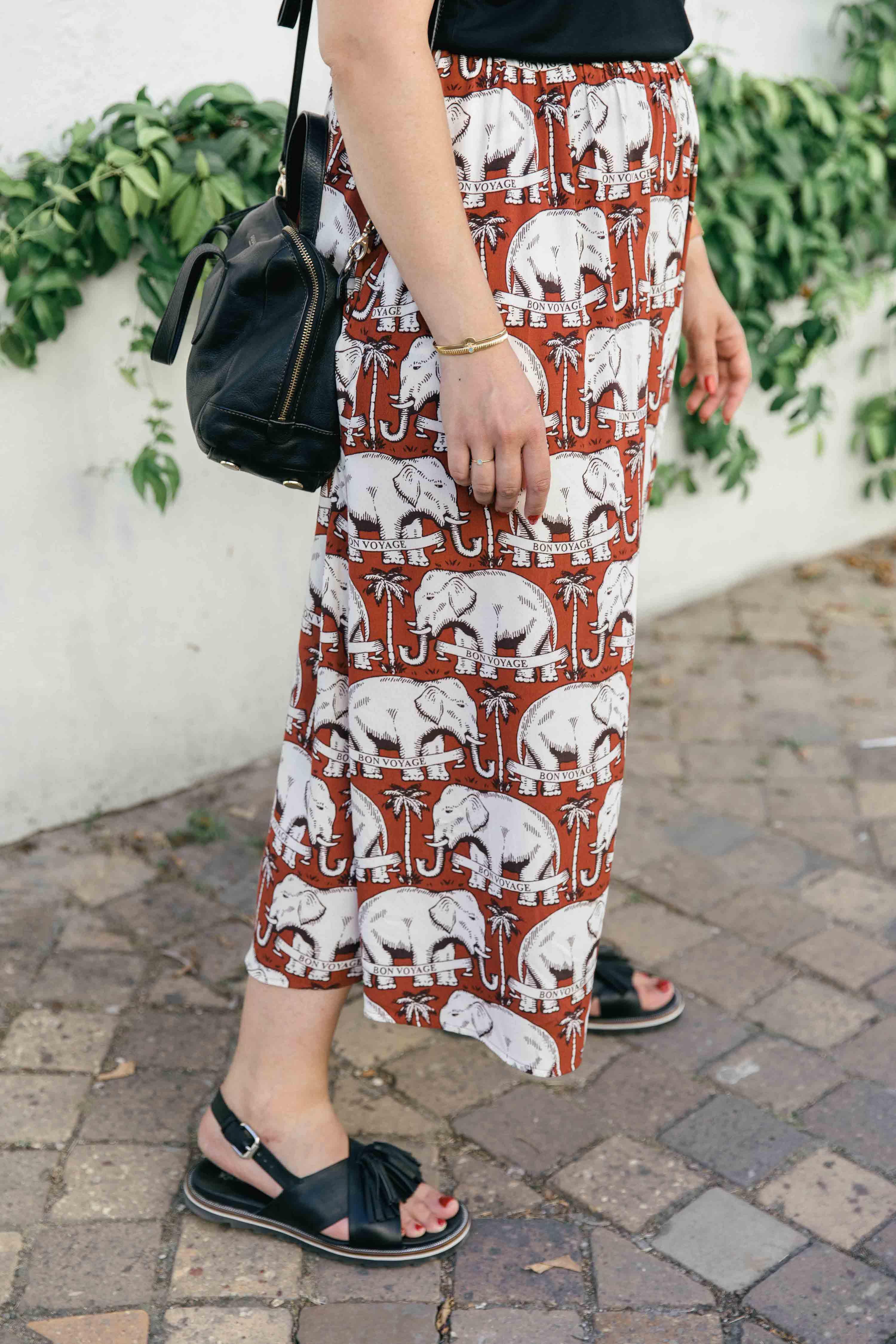 jupe imprimée éléphants