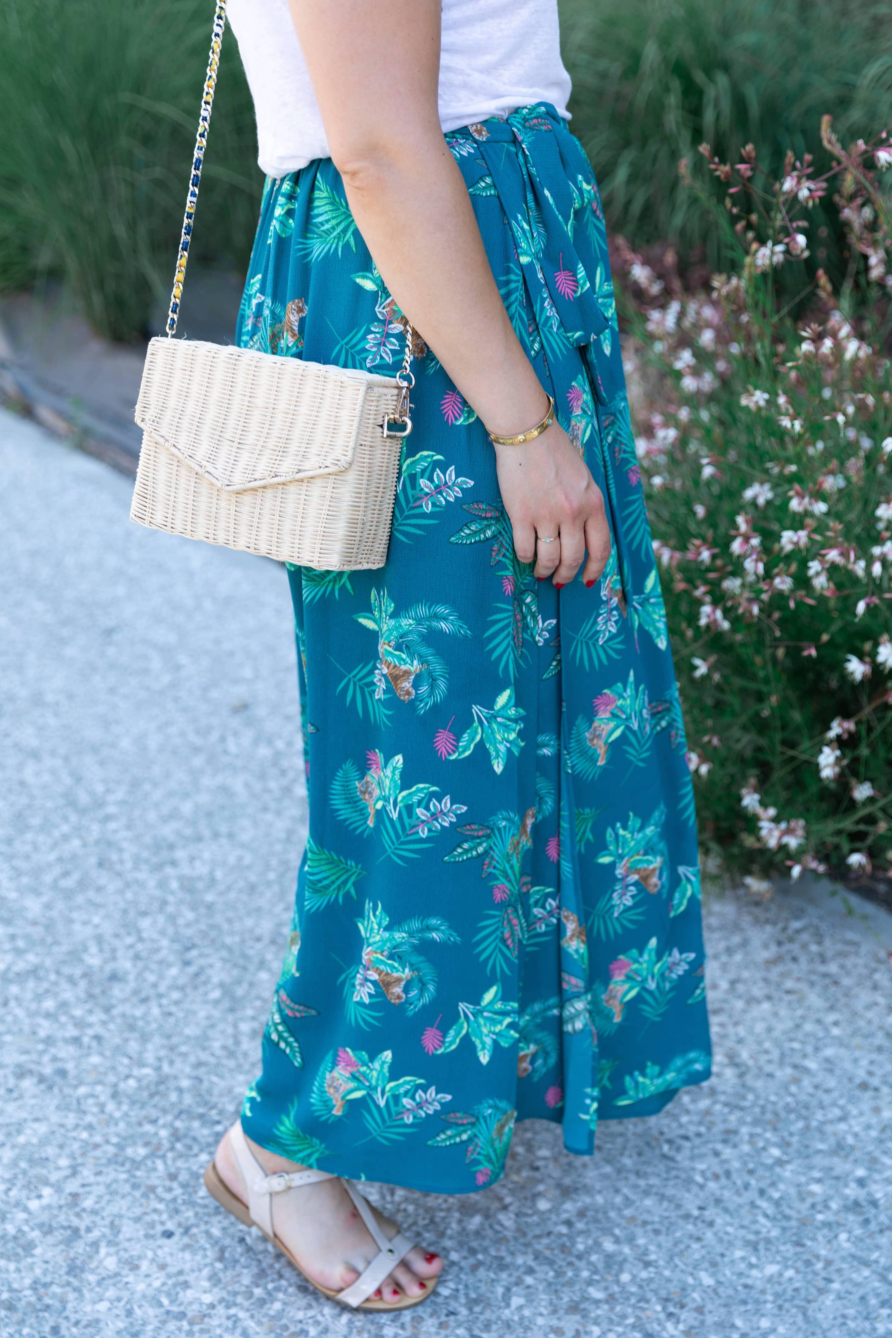 jupe longue tropicale