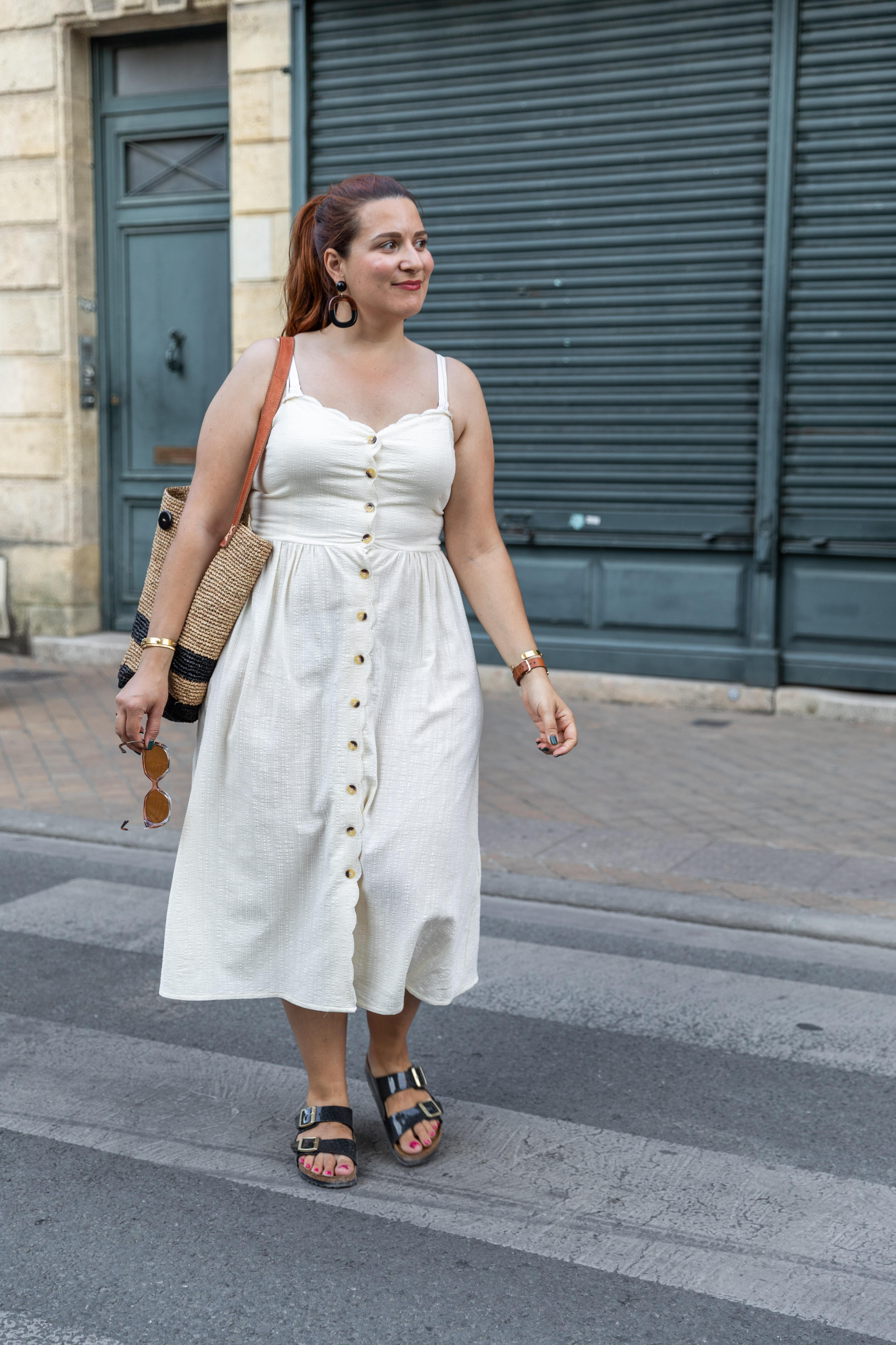 look robe blanche été
