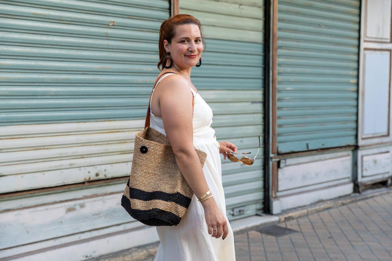 robe blanche mi-longue