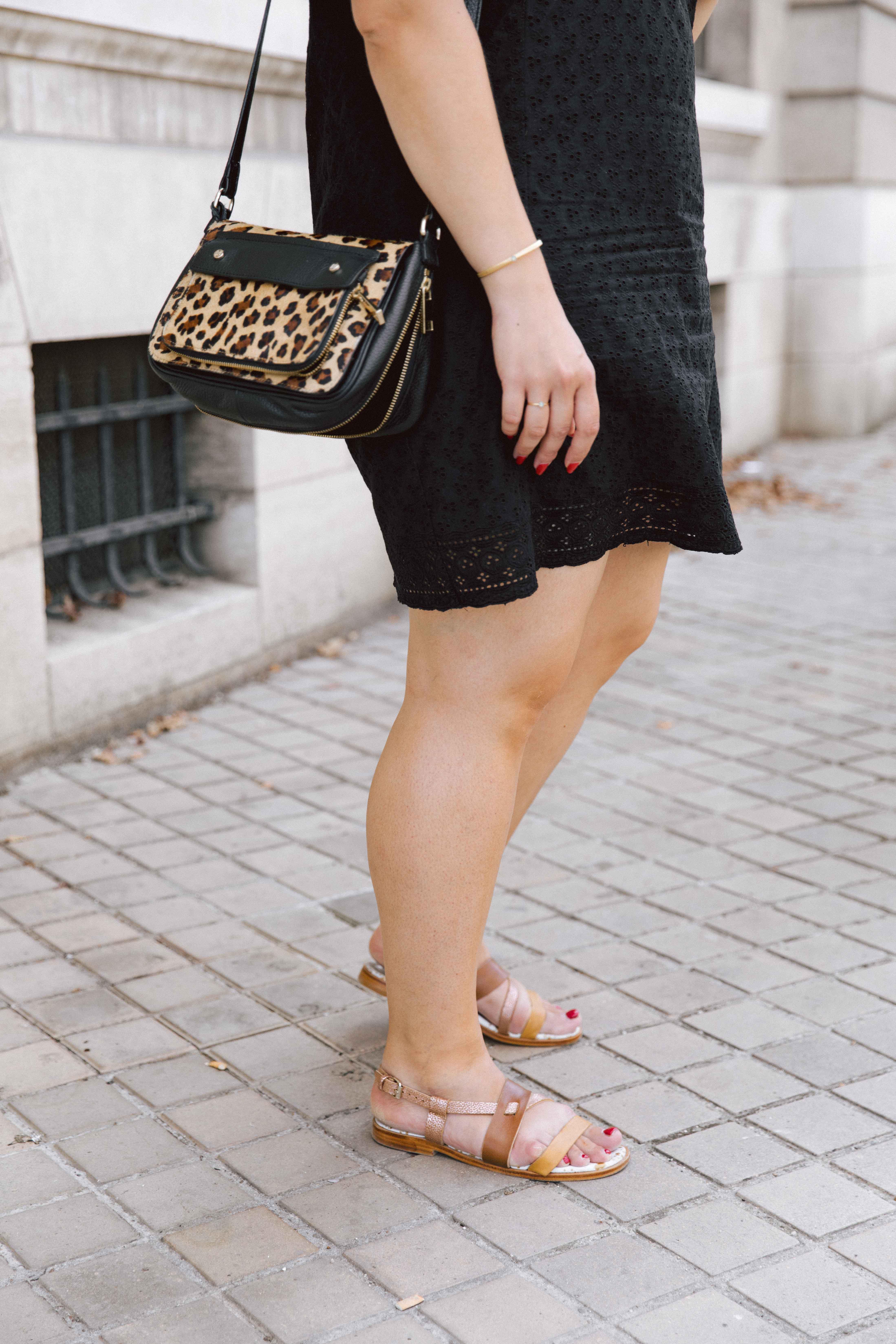 sac cuir léopard