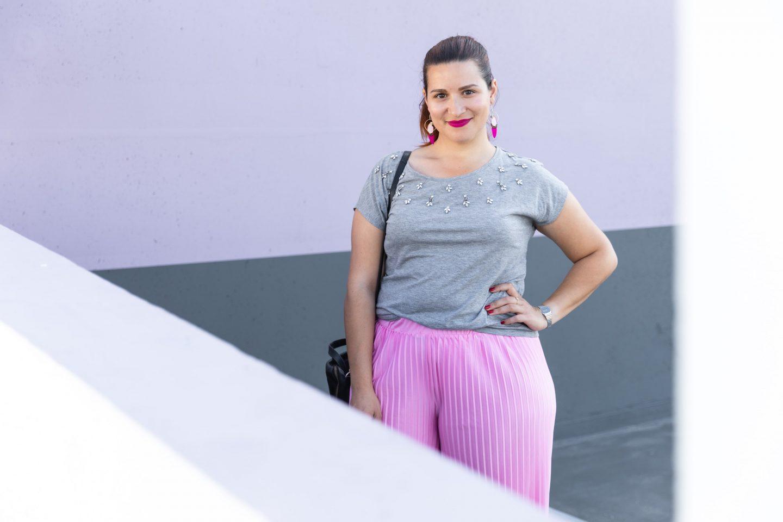 pantalon rose large
