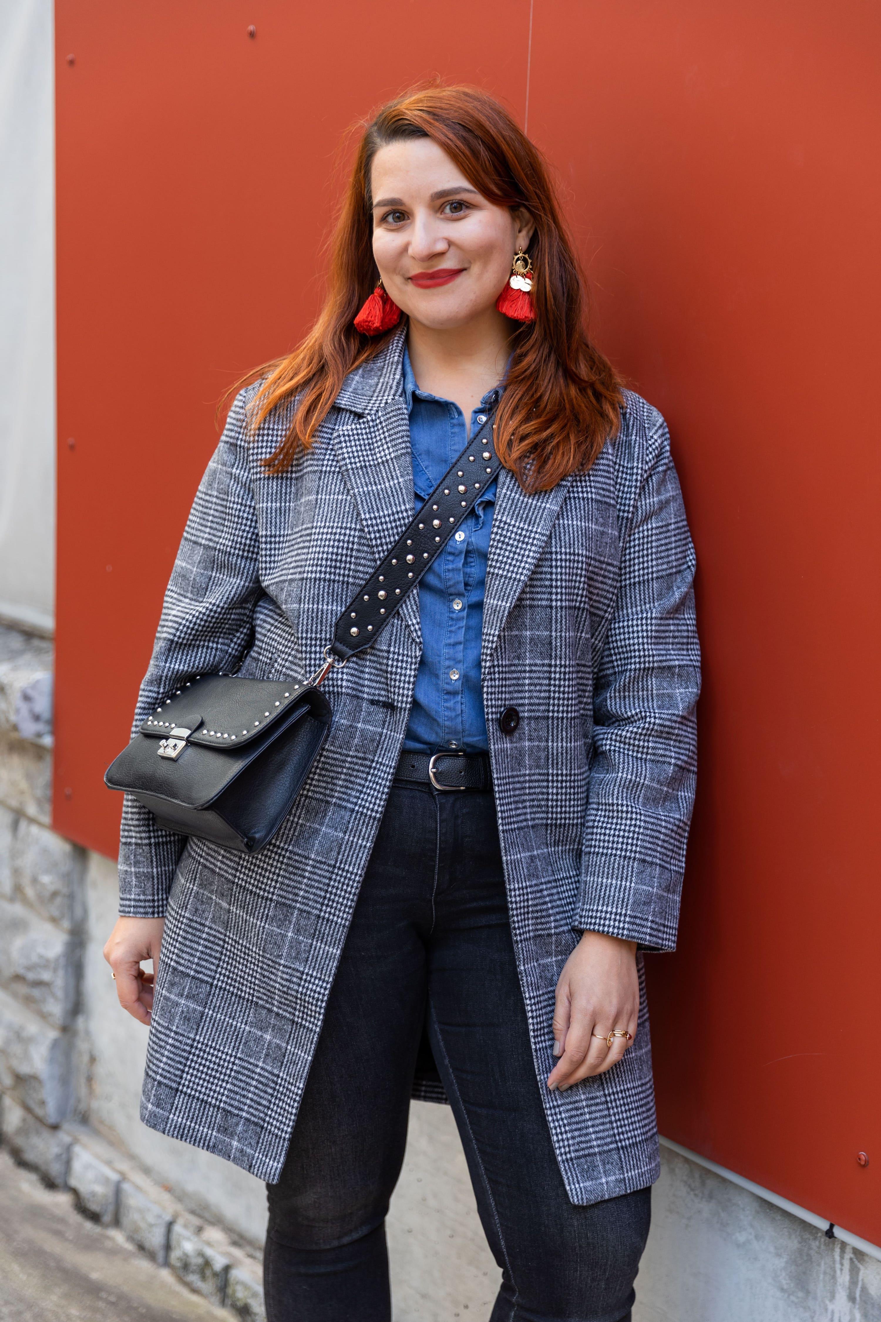 look-automne-manteau-à-carreaux