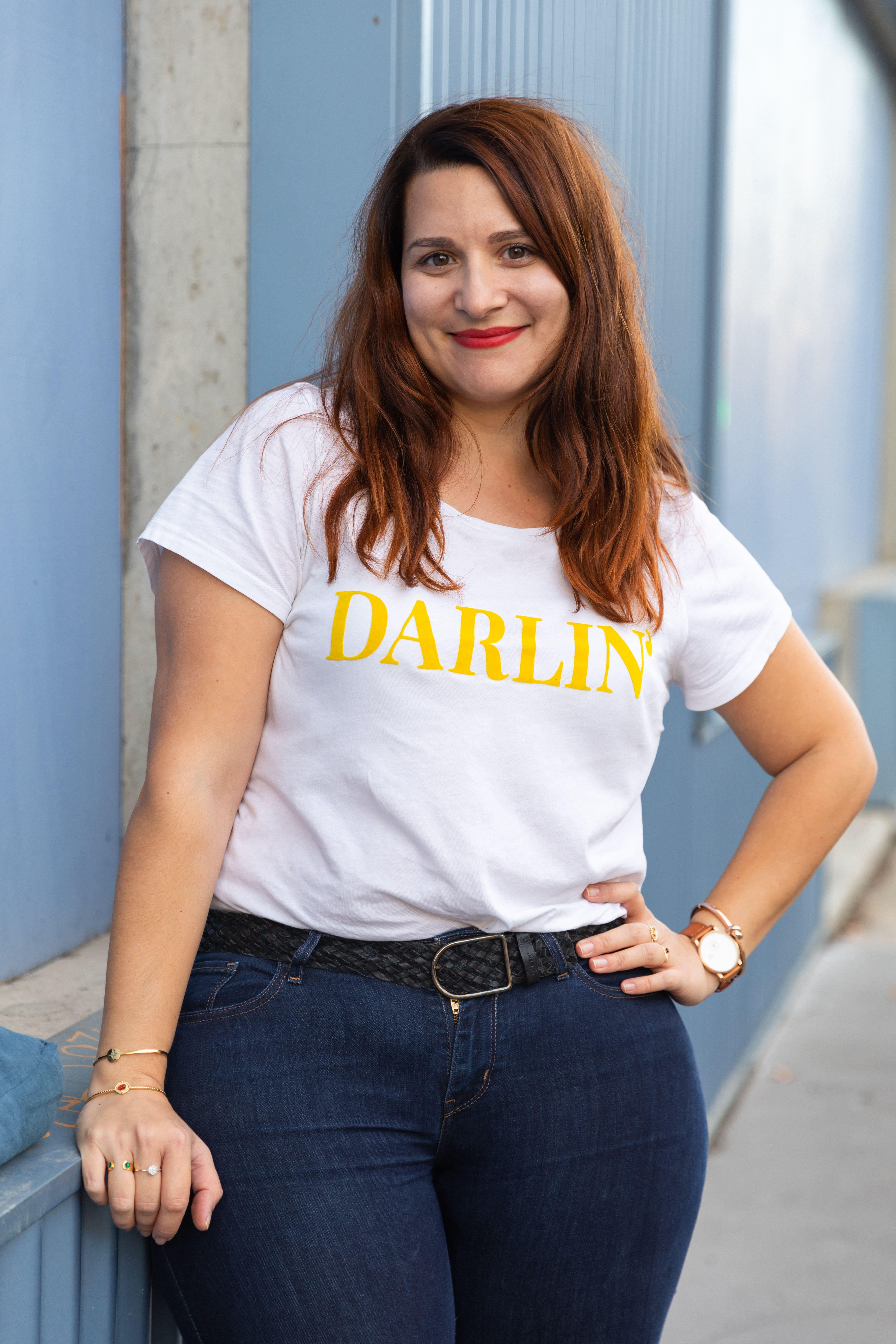 tee-shirt imprimé grande taille