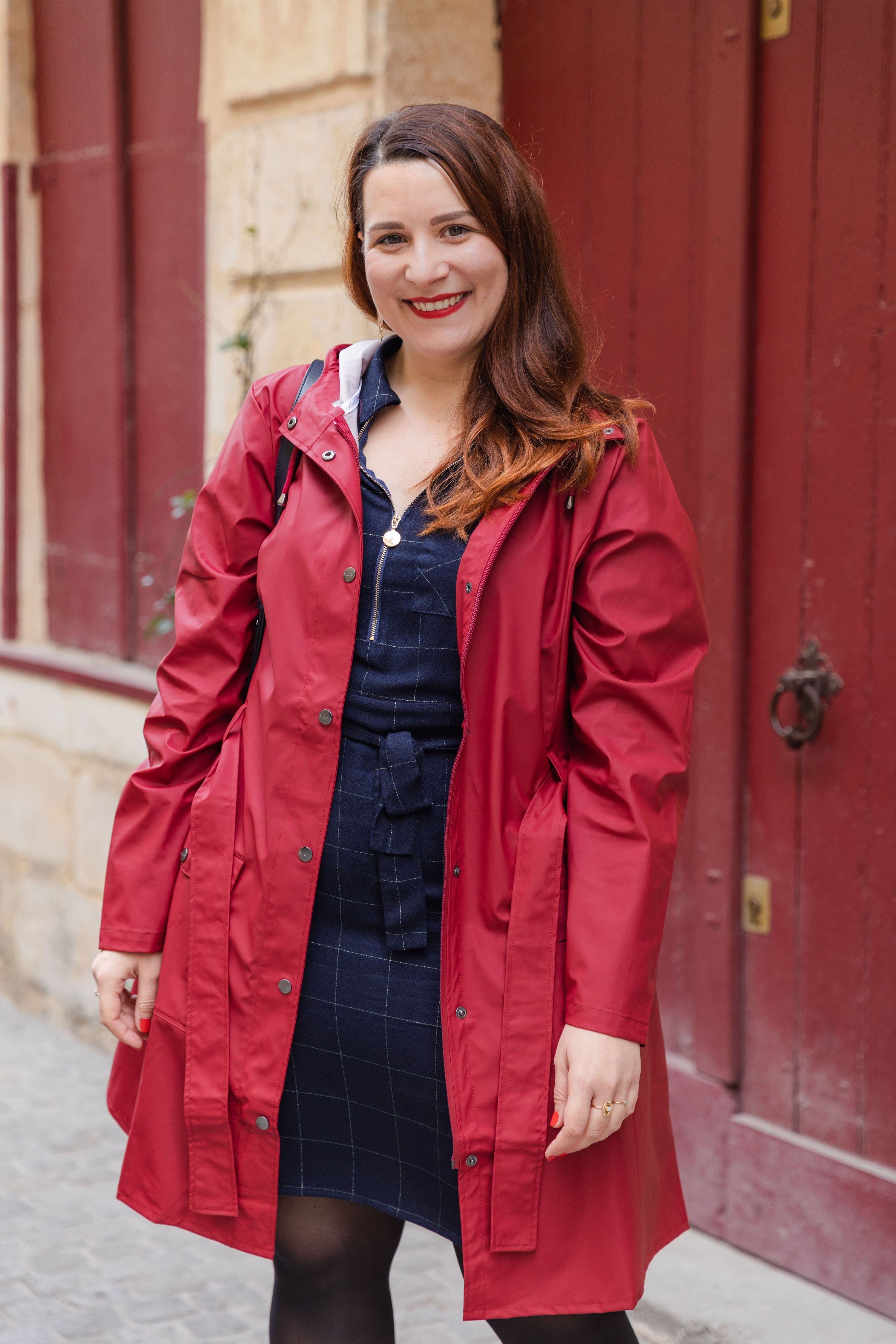 Veste-rains-rouge