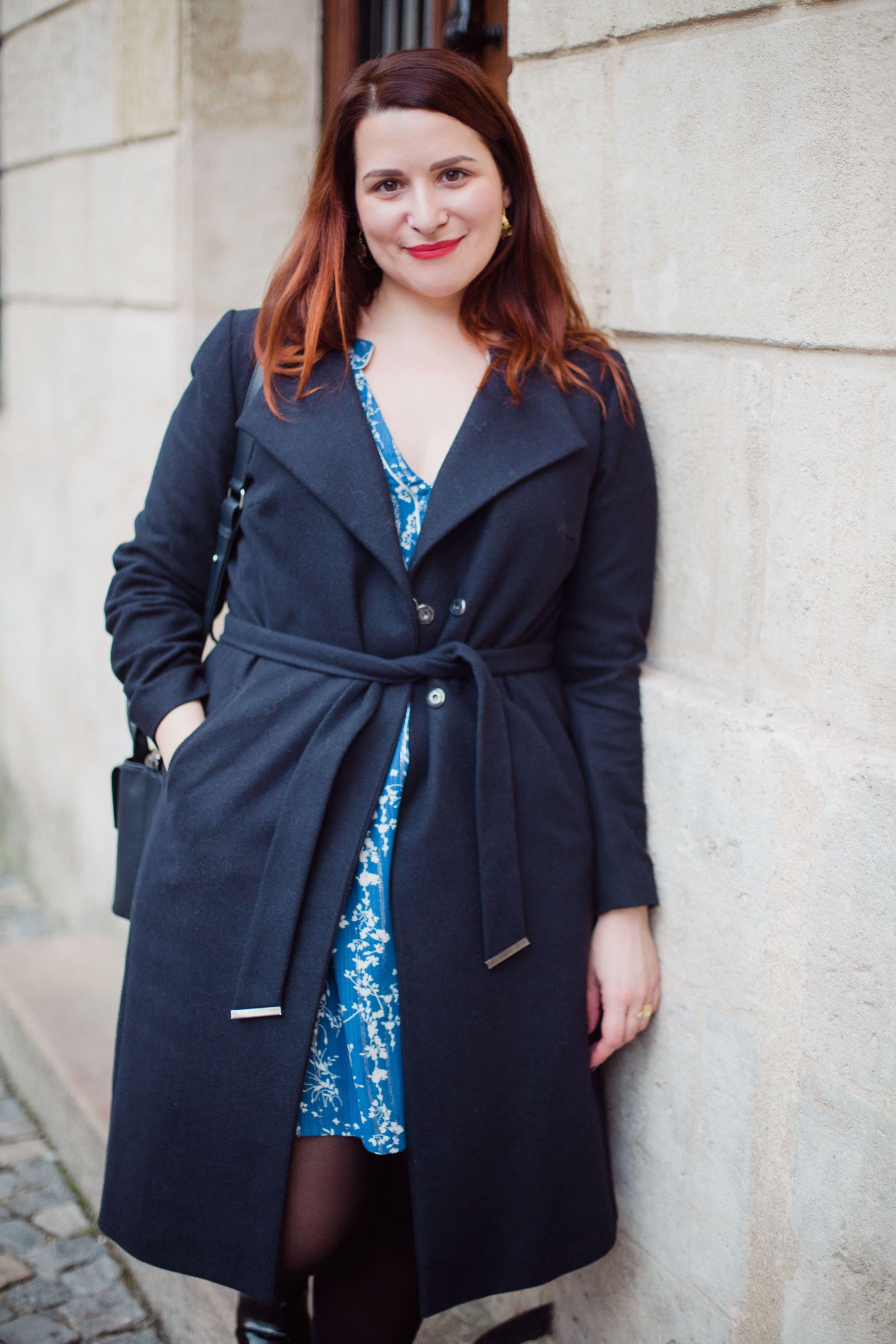look-manteau-bleu