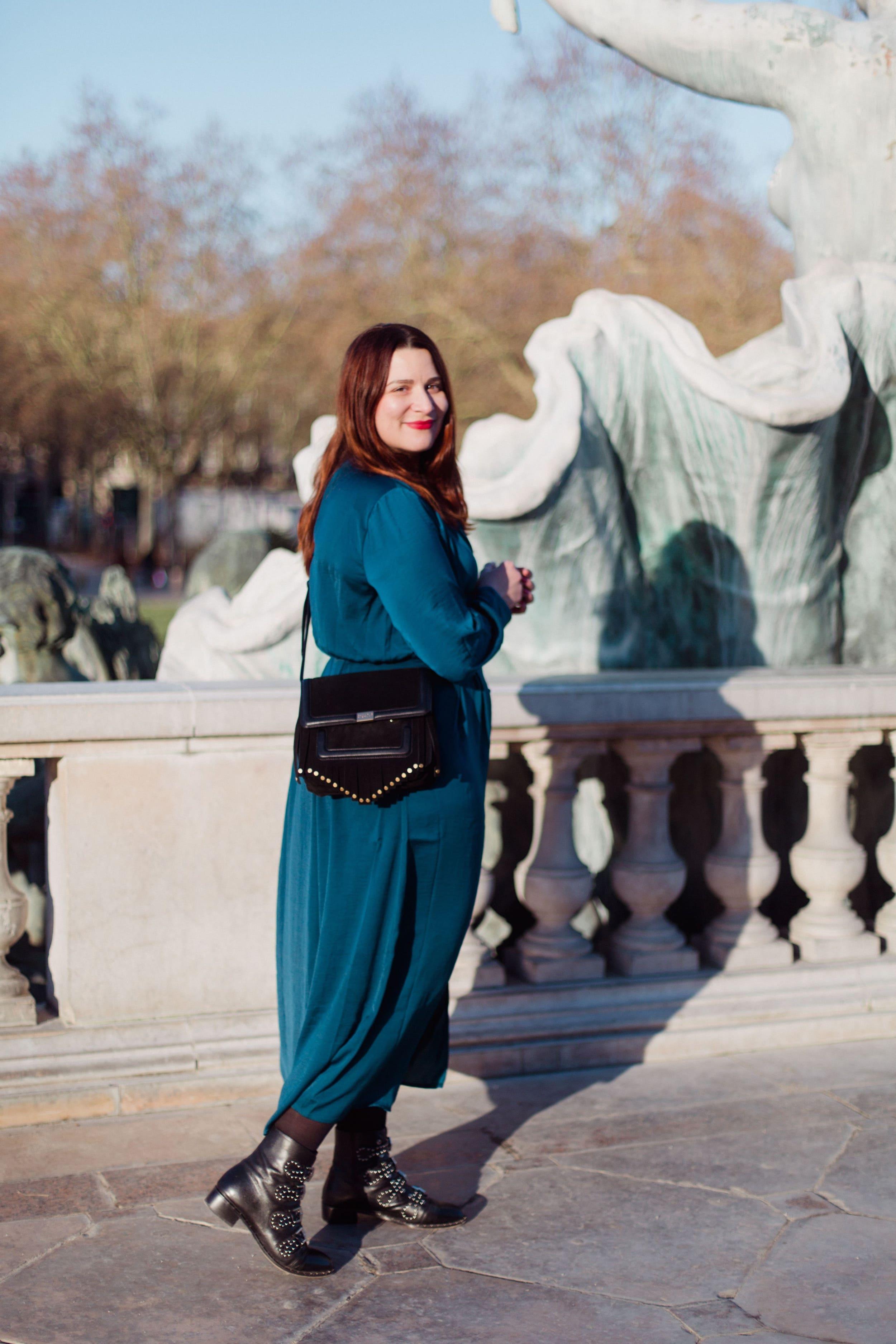 robe-longue-bleue-soldes