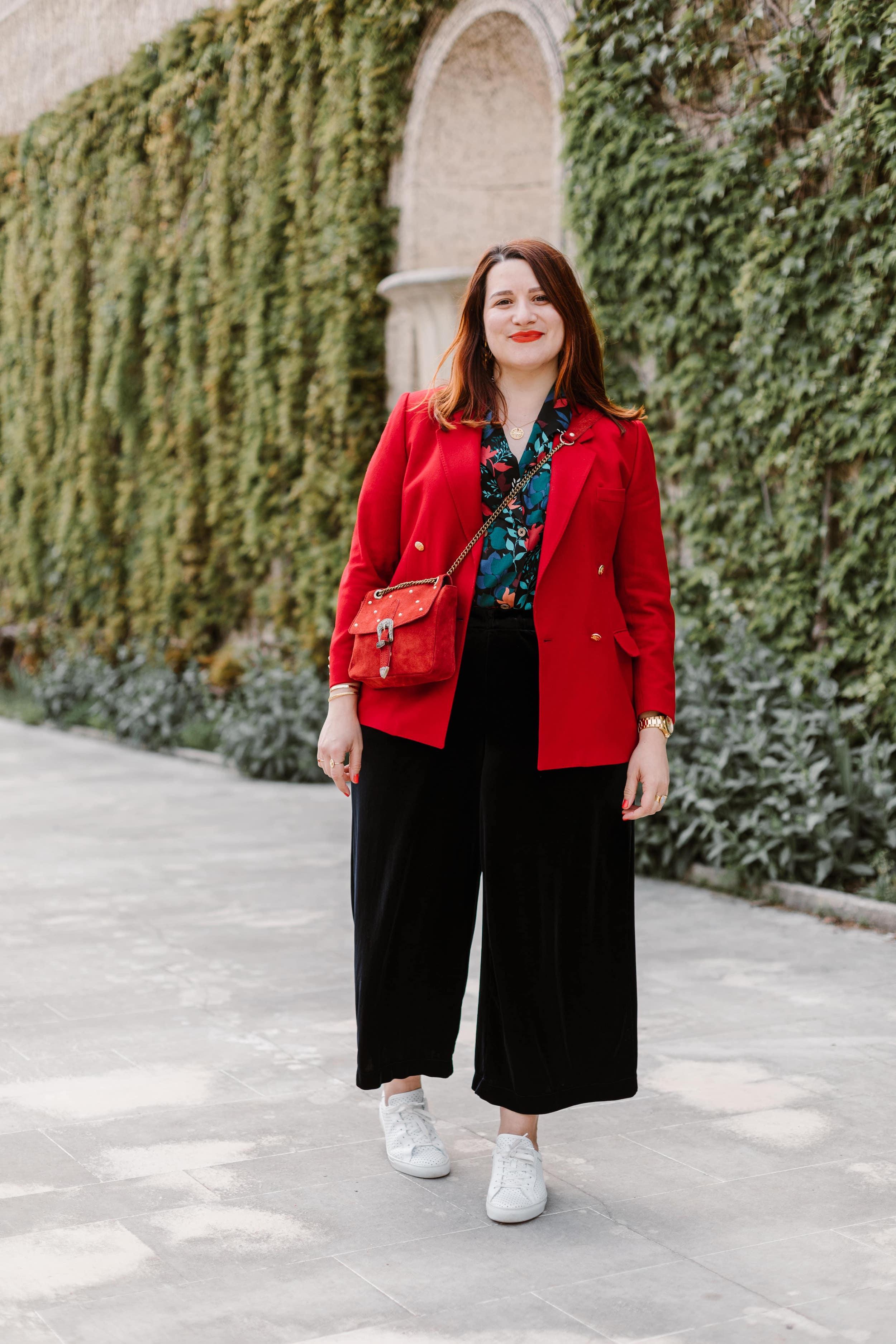 look-blazer-rouge