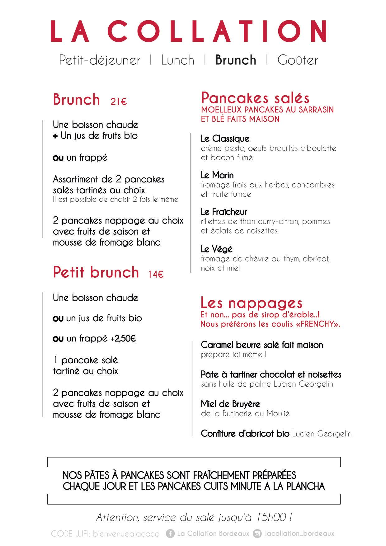 la collation bordeaux menu