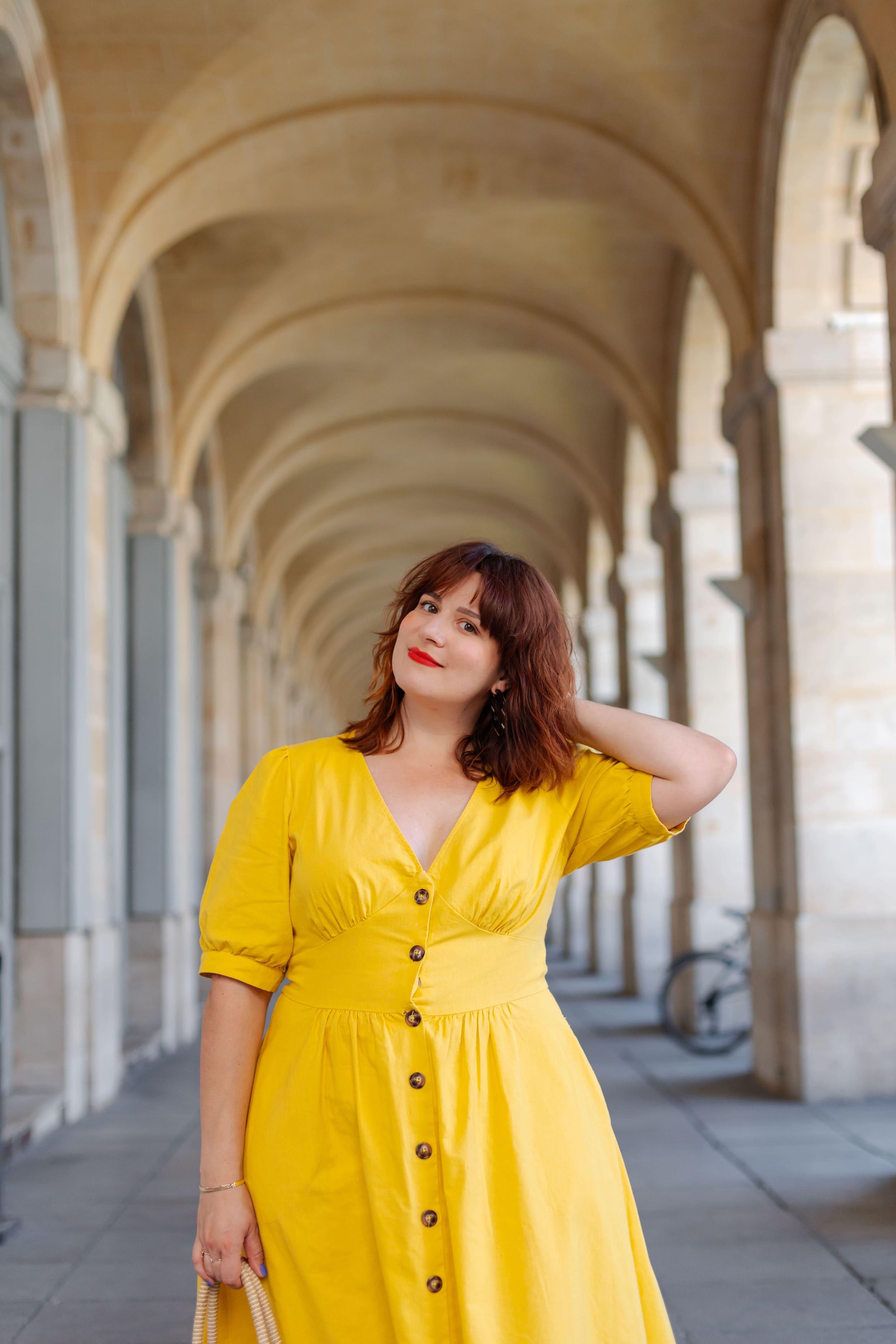 robe-jaune-soldes