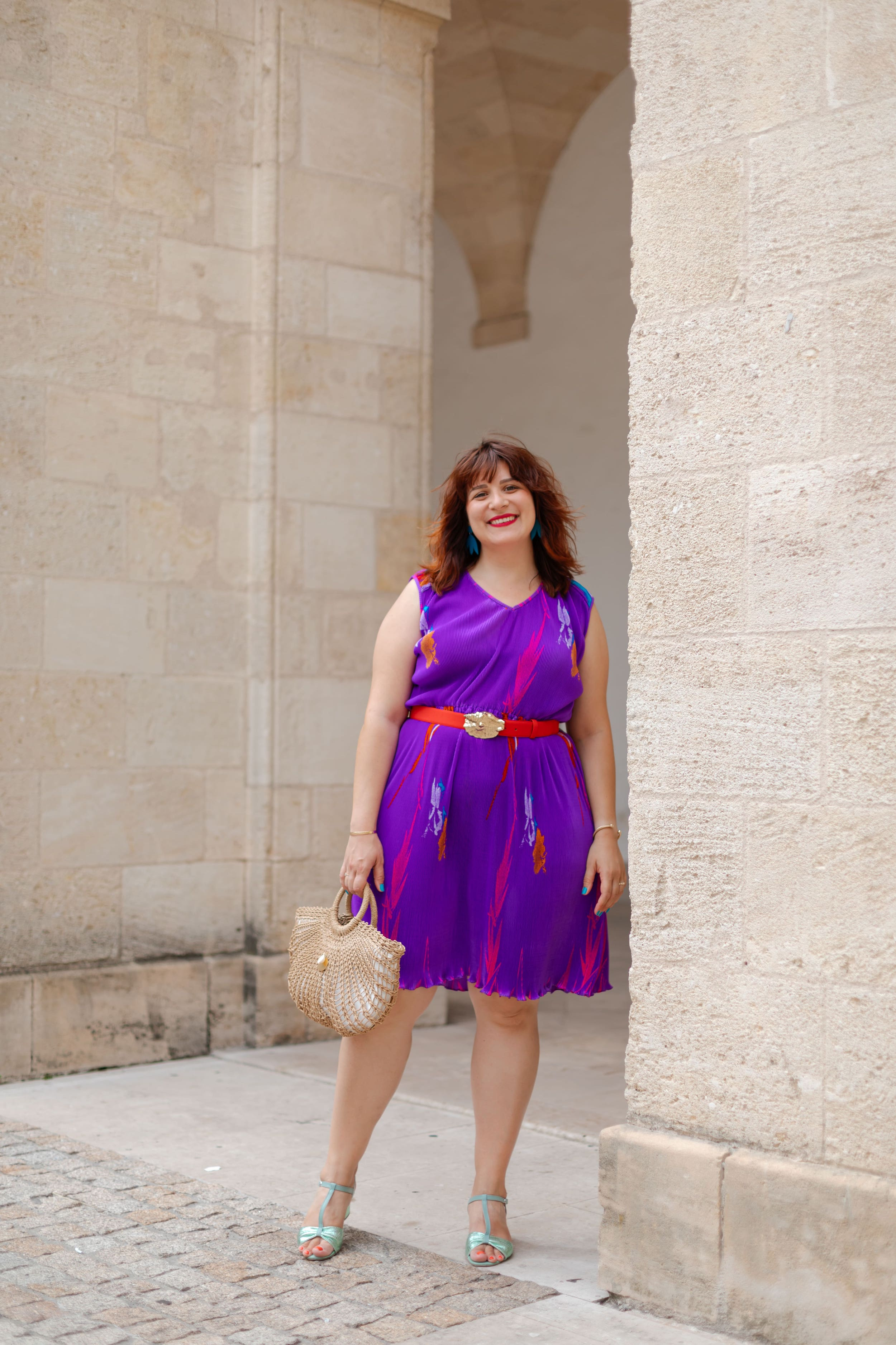 robe-violette-vintage