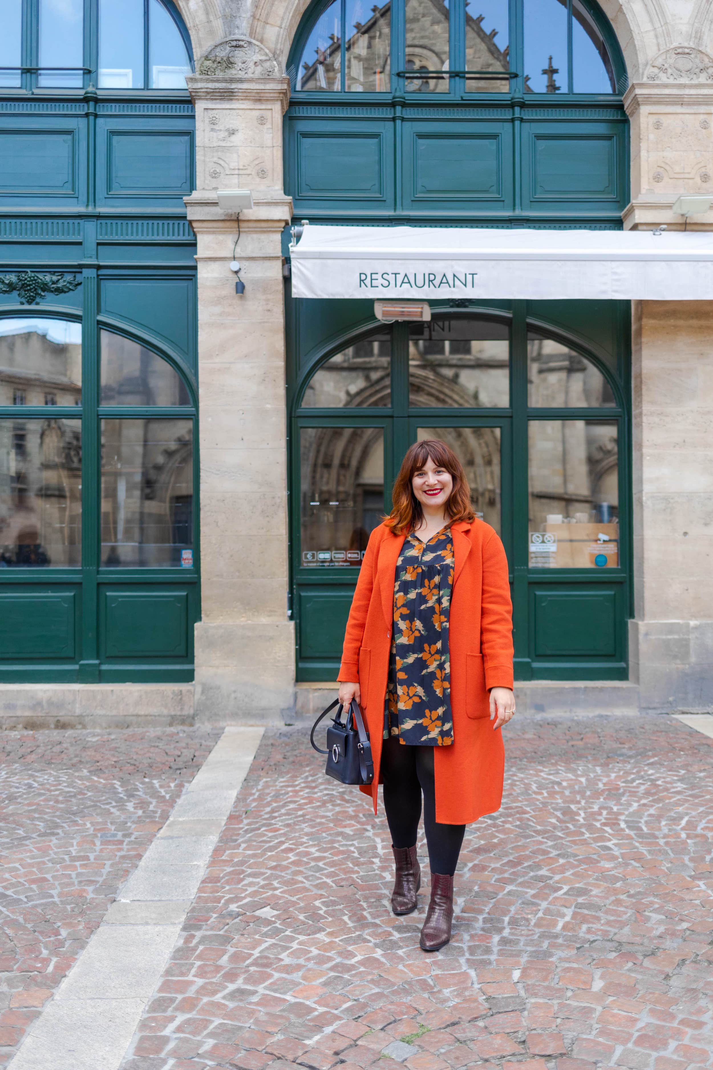 manteau-orange-pas-cher