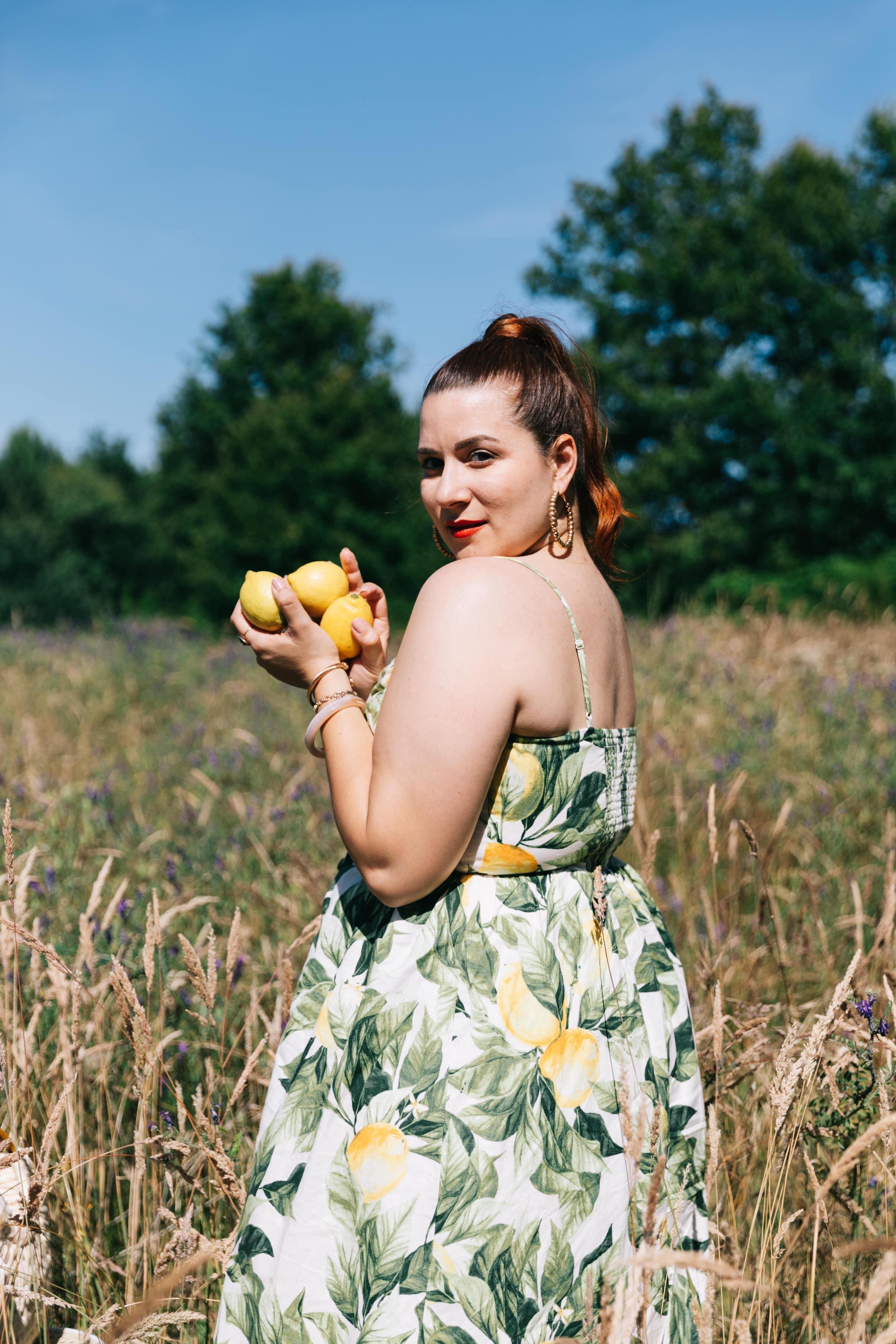 robe-h-et-m-imprimé-citron