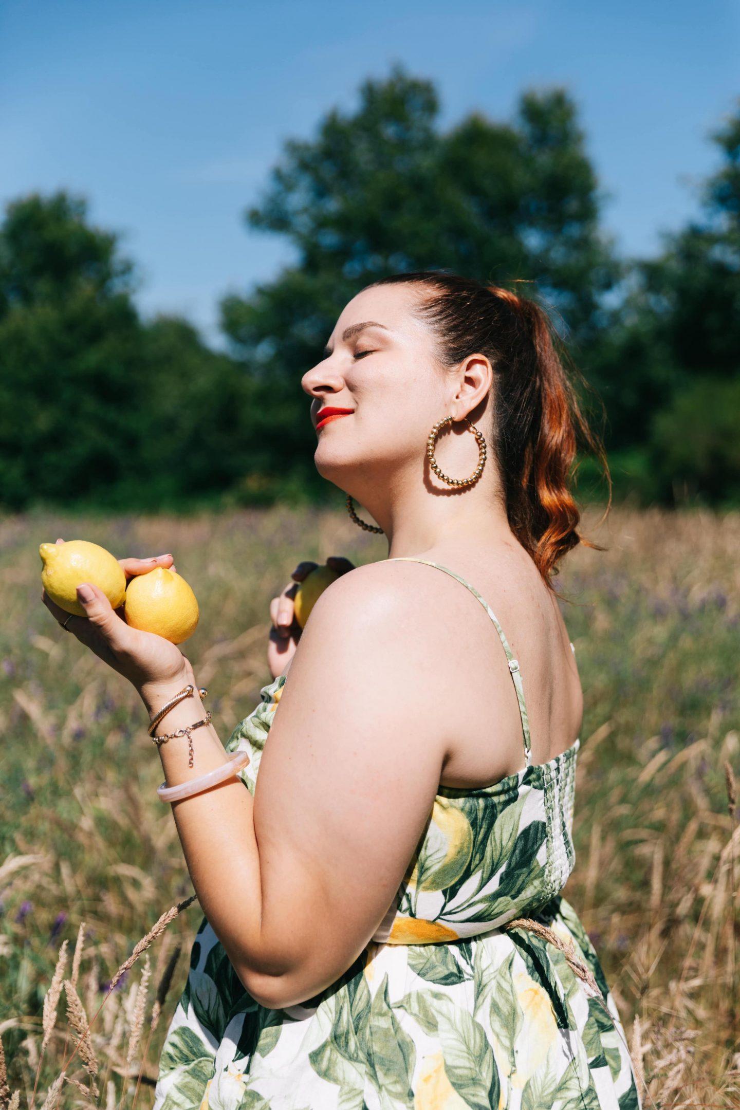 robe-imprimé-citrons-grande-taille