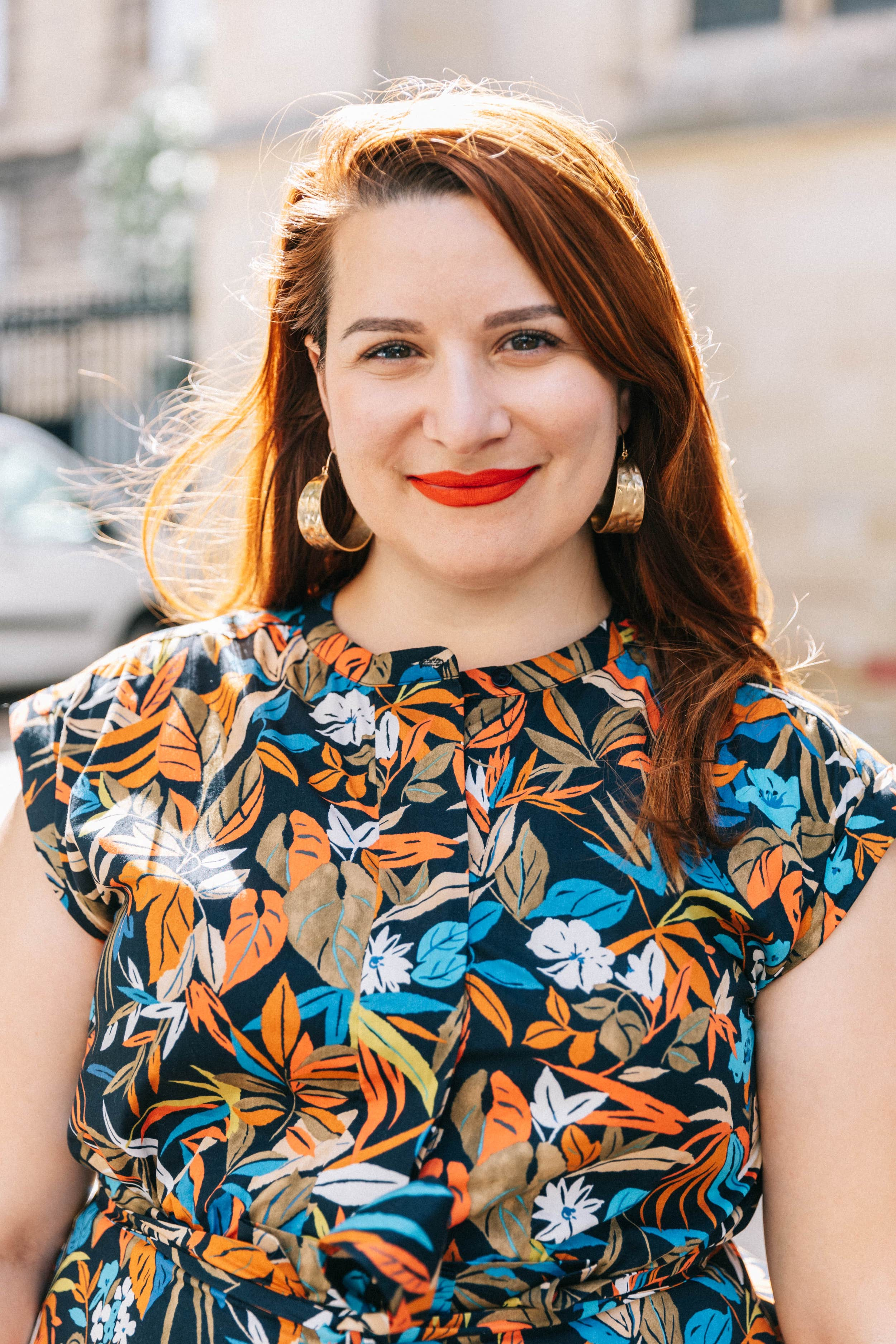 robe-imprimée-orange