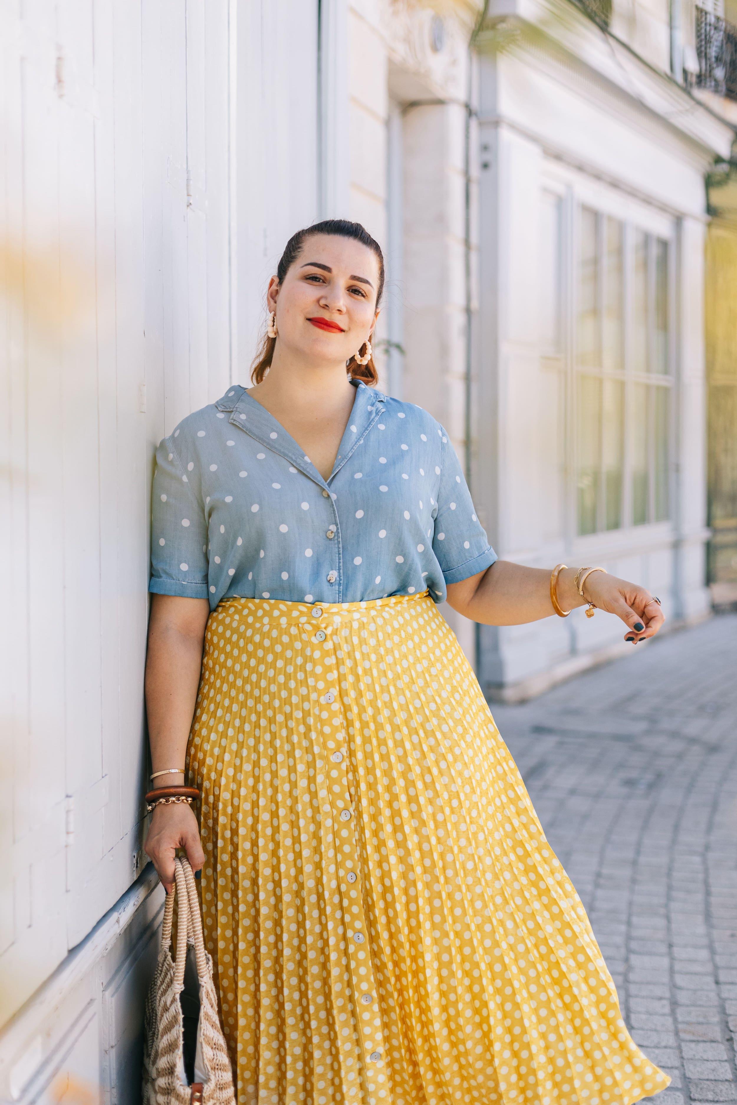 look-jupe-jaune